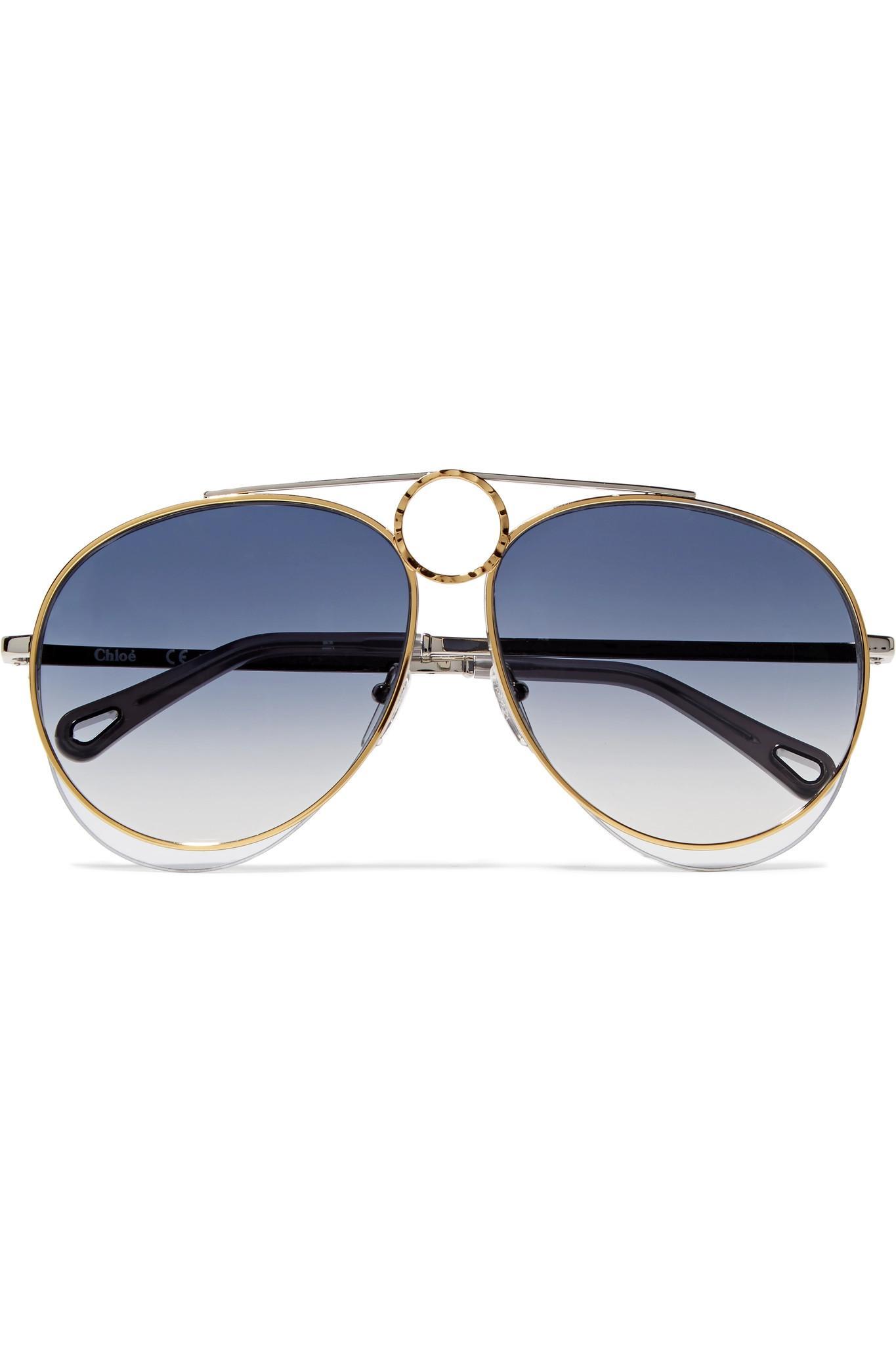 Montevideo Aviator-style Silver-tone Sunglasses - one size Illesteva mQqNadKAs