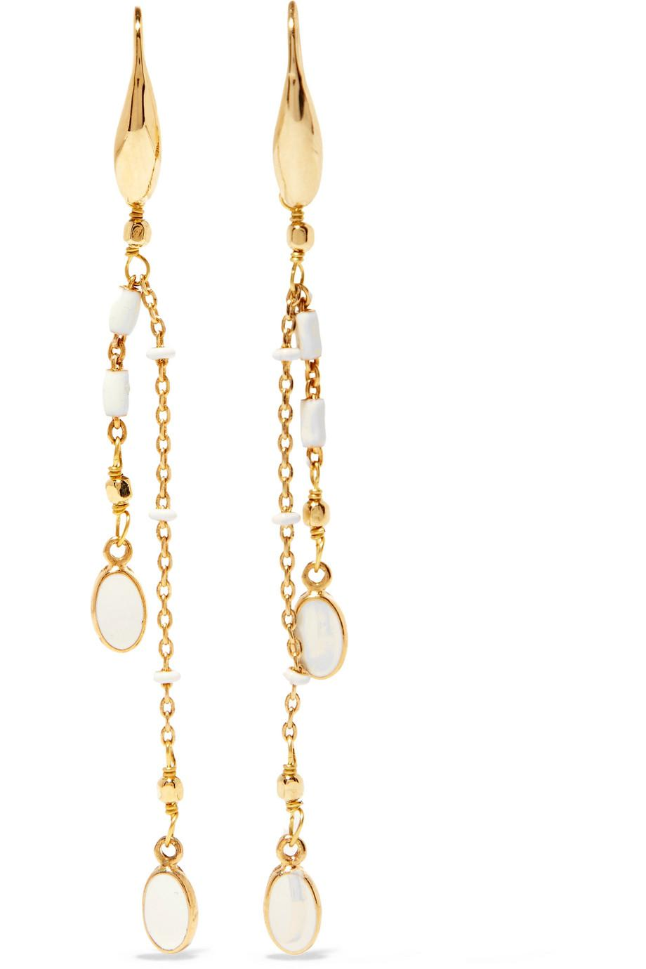 Isabel Marant Gold-tone And Resin Hoop Earrings - Cream ZF6YM7MYdz