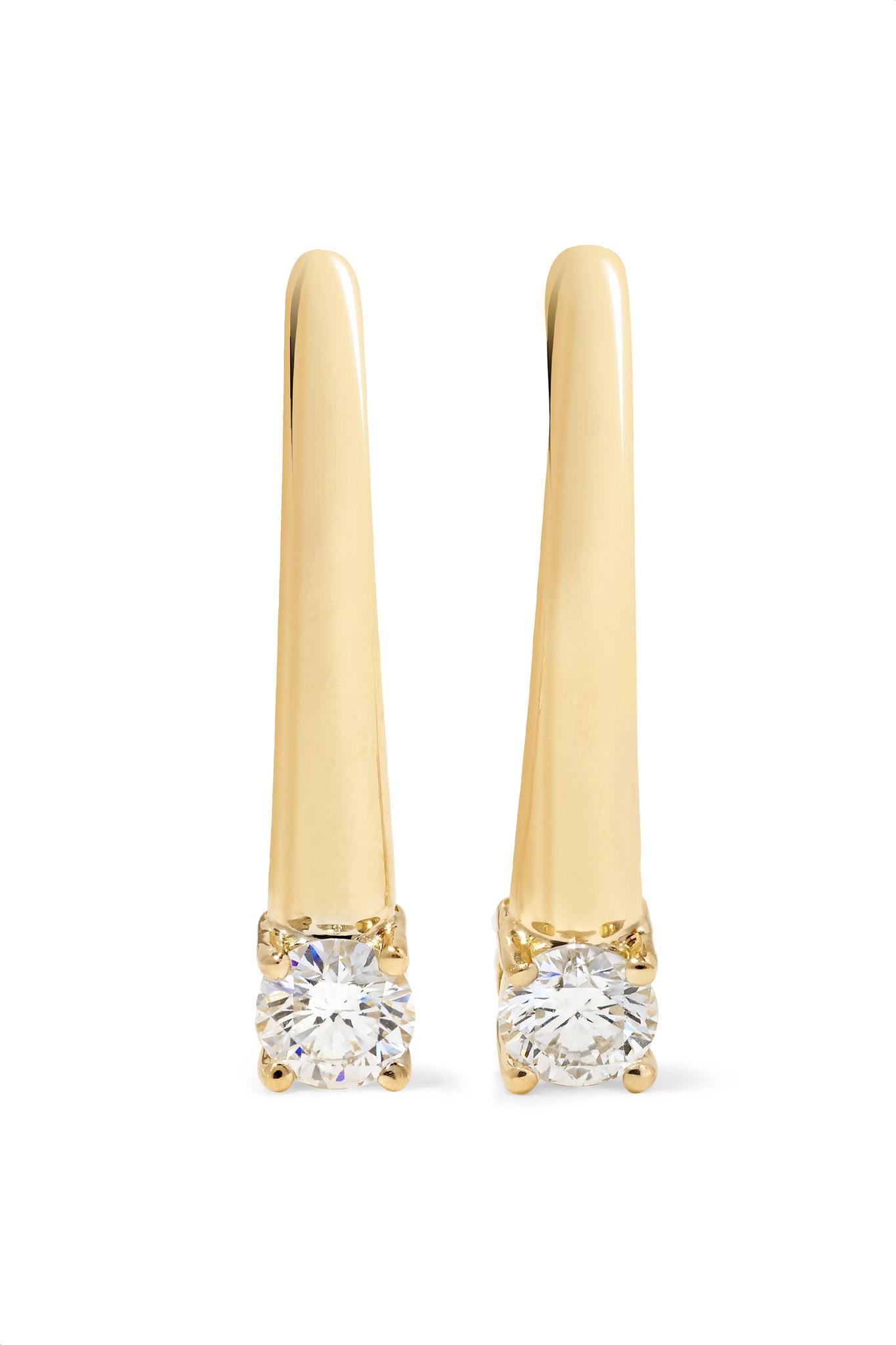 Melissa Kaye Aria 18-karat Gold Diamond Earrings M9CRIv