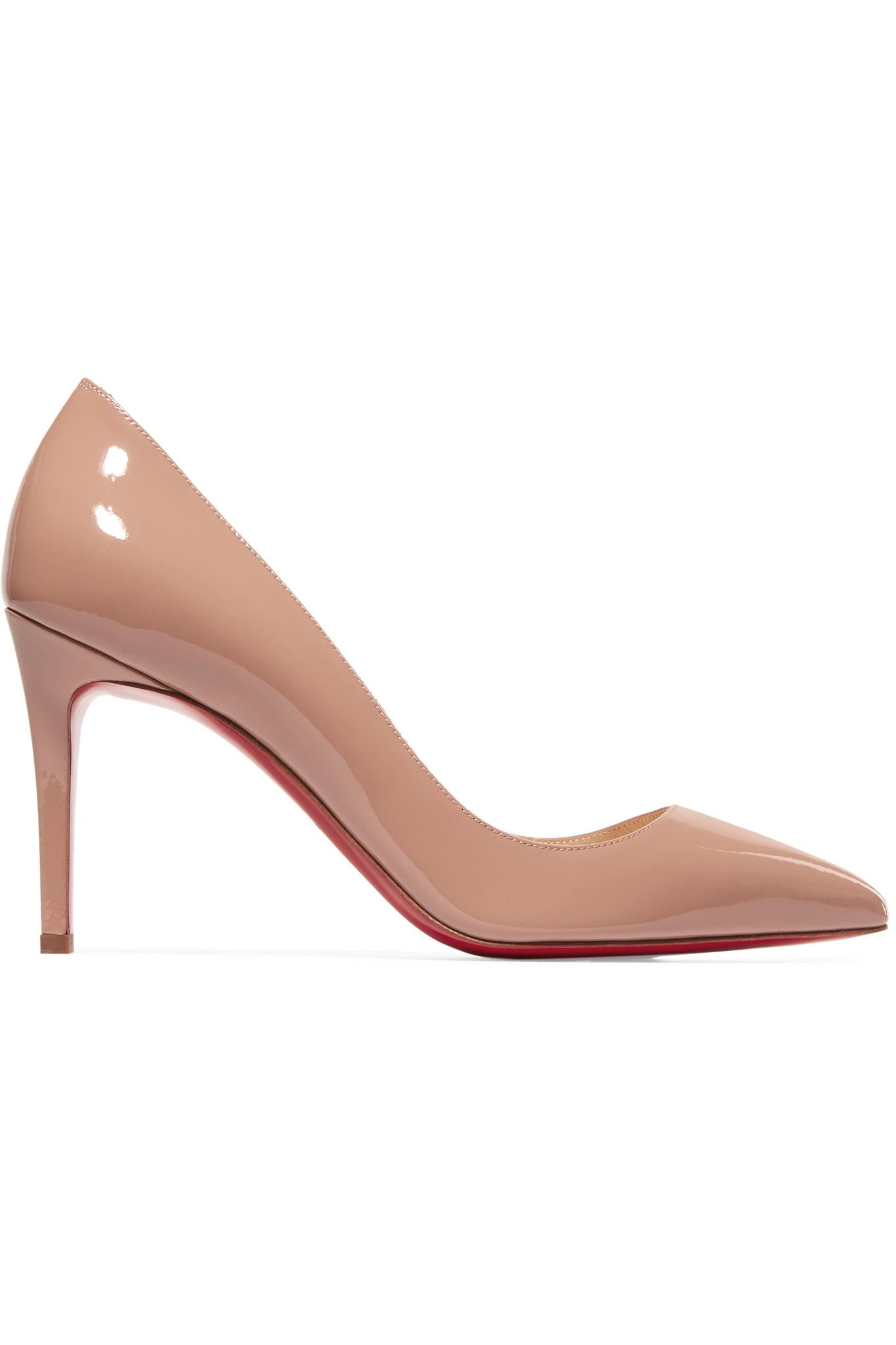 206a7591a448 Christian Louboutin. Women s Natural Pigalle 85 Patent-leather Court Shoes