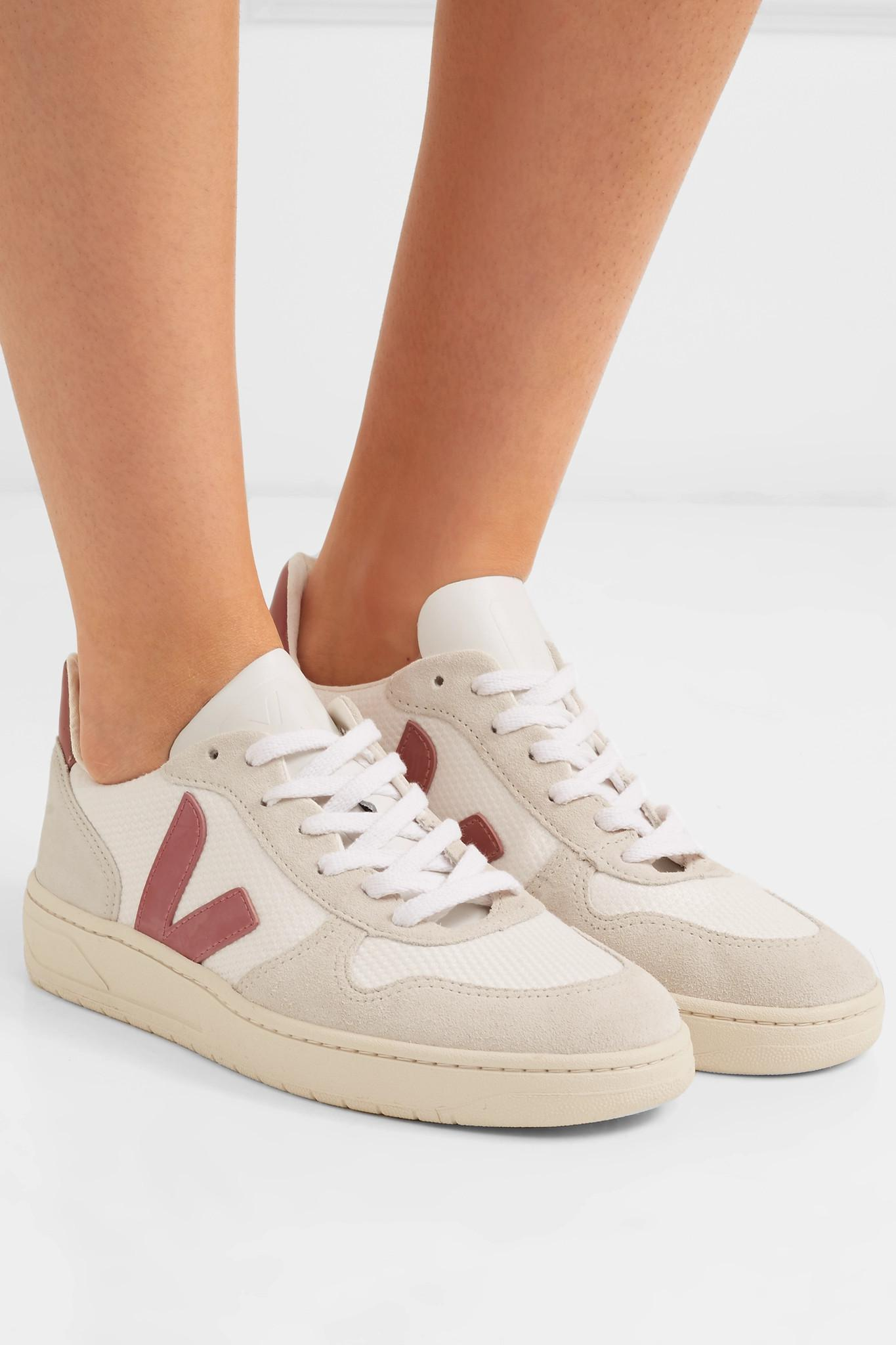cheap explore VEJA V-10 Leather & Suede Sneakers factory outlet Mpnzv