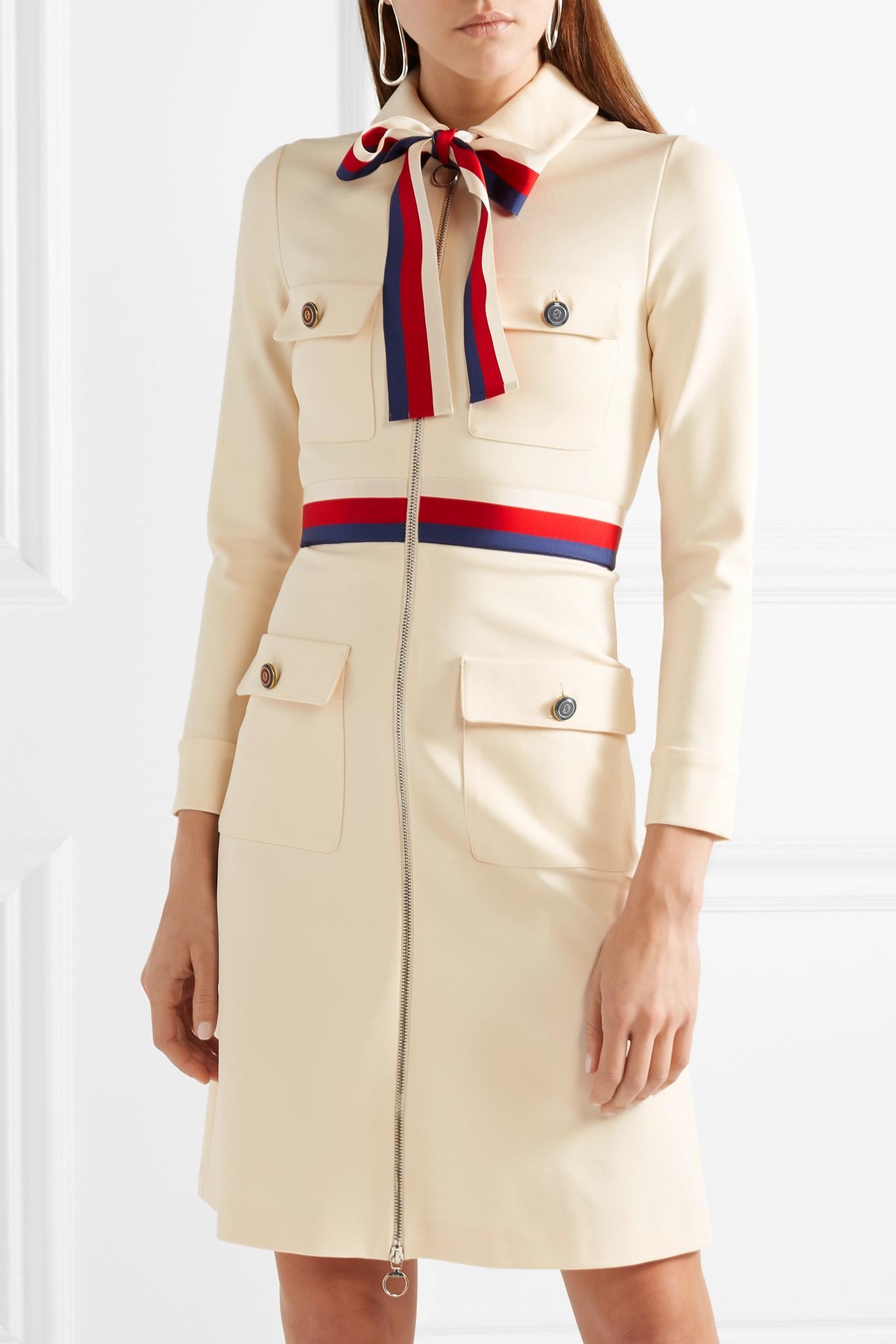 Lyst - Mini-robe En Jersey à Finitions En Gros-grain Gucci en ... b030581c7b3