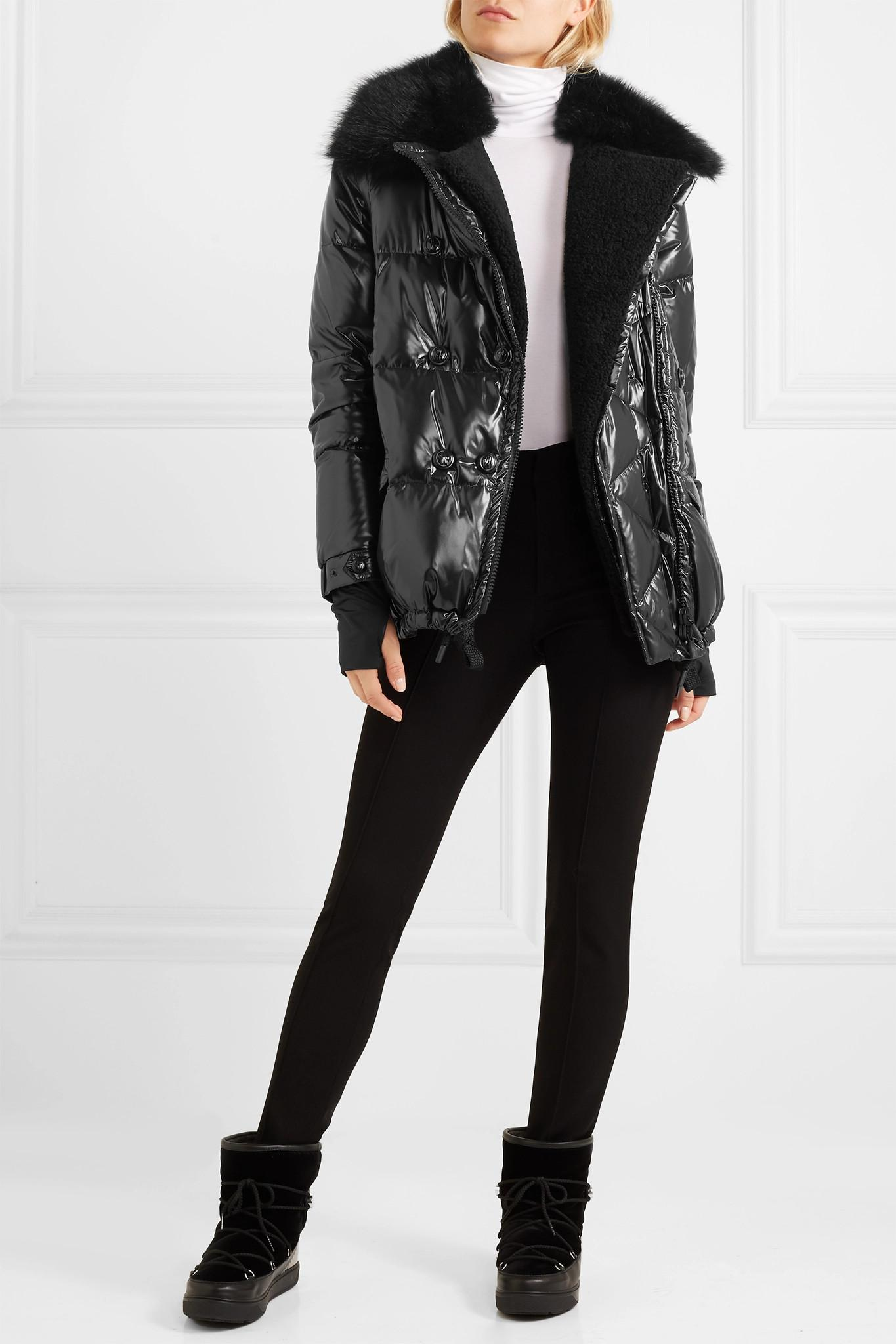 ebac06715 Moncler Grenoble Seelisberg Shearling-trimmed Quilted Glossed-shell ...