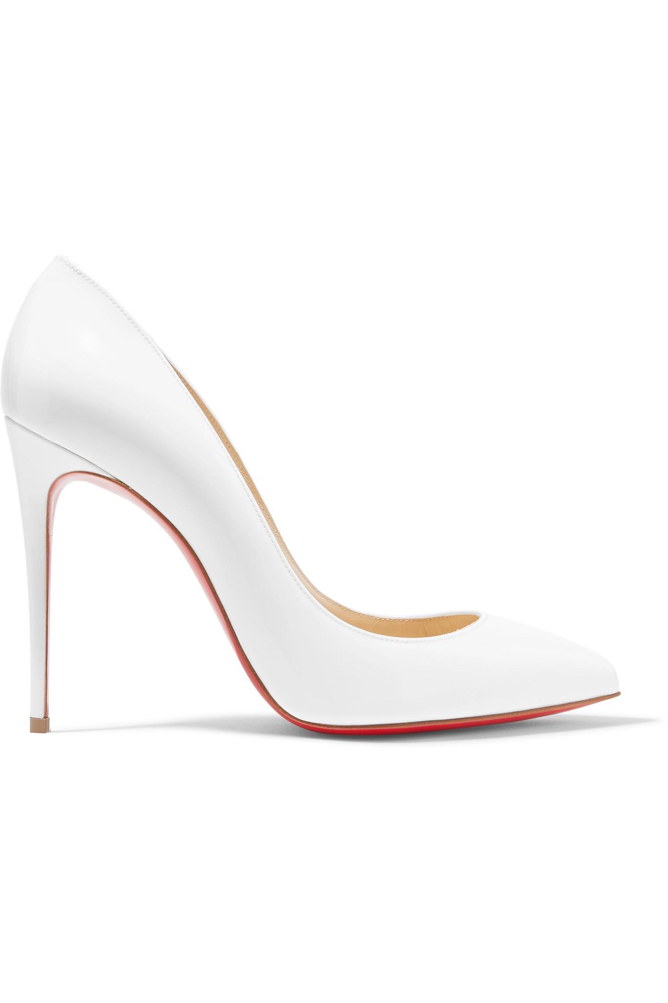 0ad881e3e8f2 Christian Louboutin. Women s White Pigalle Follies 100 Patent-leather Pumps