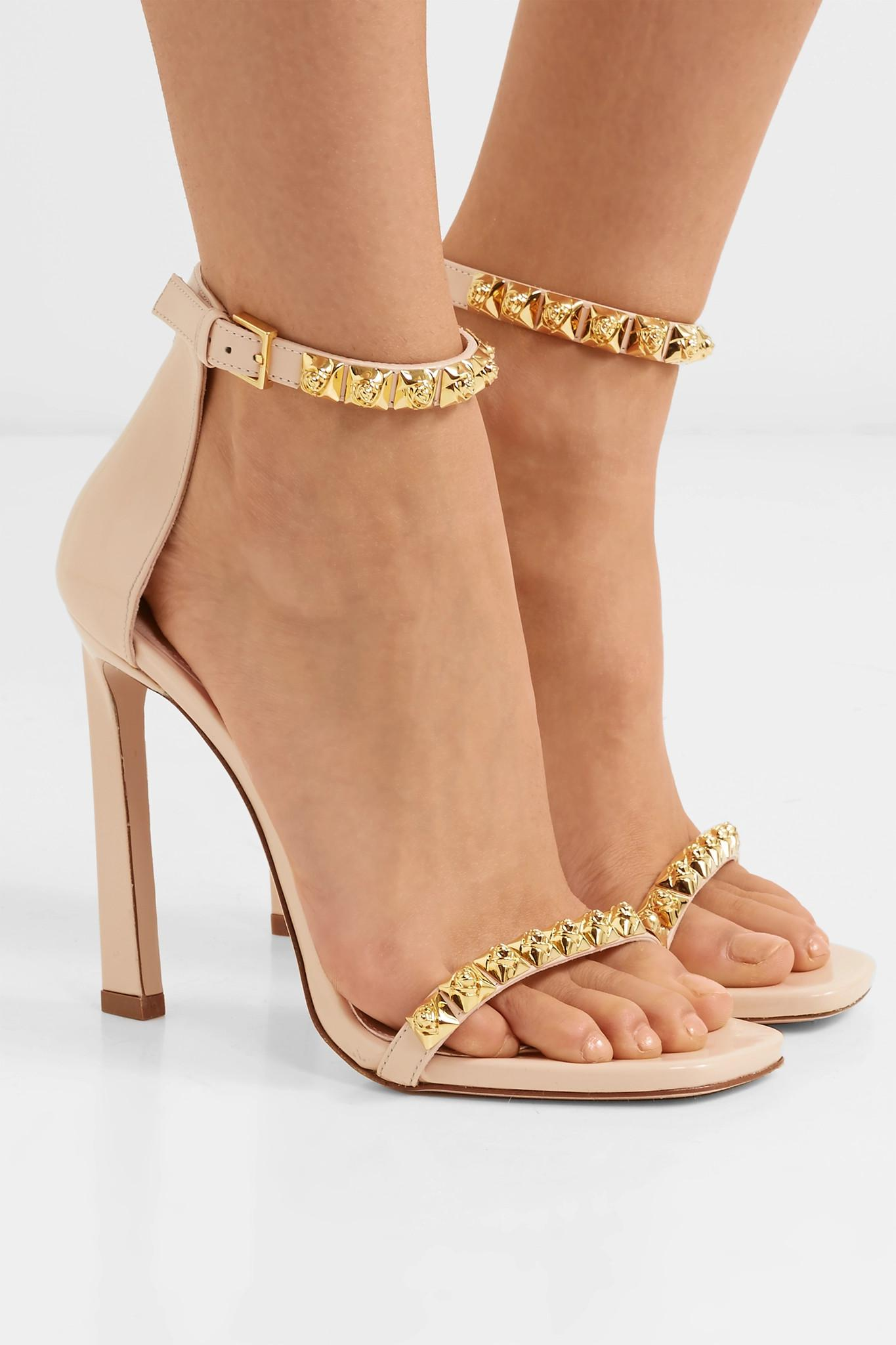 the latest 36ca0 4175d stuart-weitzman-blush-Rosist-100-Studded-Glossed-leather-Sandals.jpeg