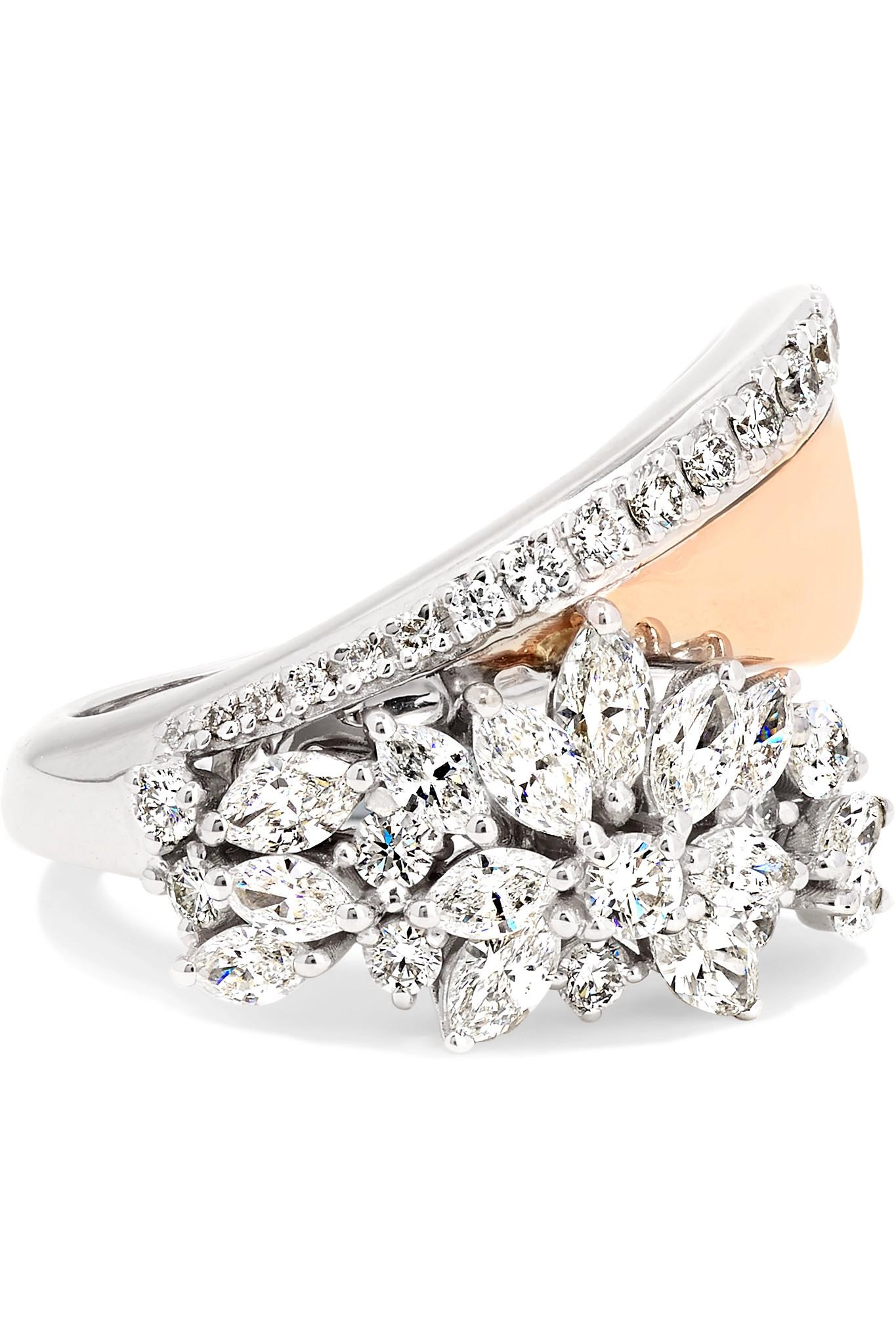 Yeprem 18-karat Rose And White Gold Diamond Ring - Rose gold OzdW6
