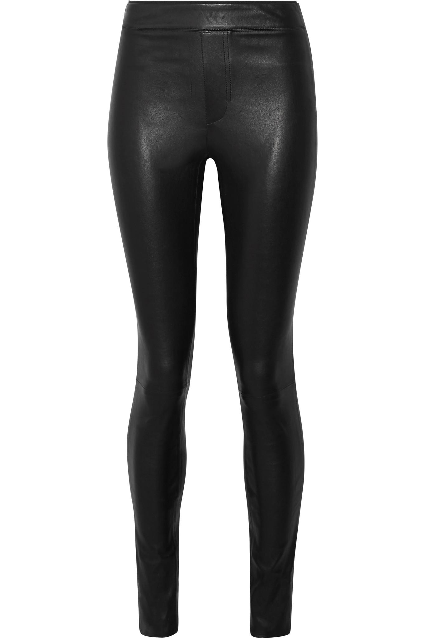 086a7fea802910 Helmut Lang Stretch-leather Leggings in Black - Lyst
