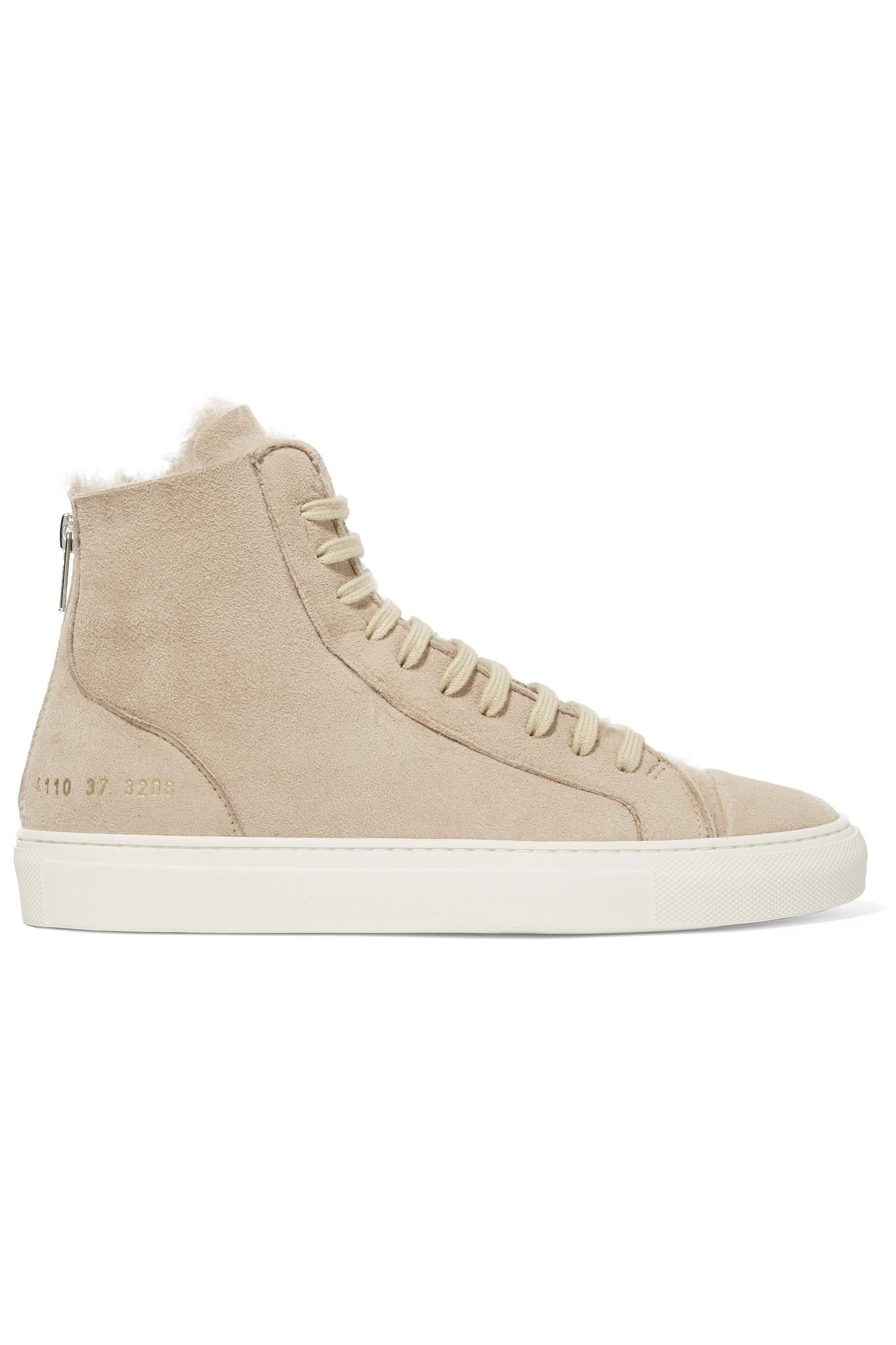 d892c1779dc6 Lyst - Common Projects Tournament Shearling High-top Sneakers in Natural