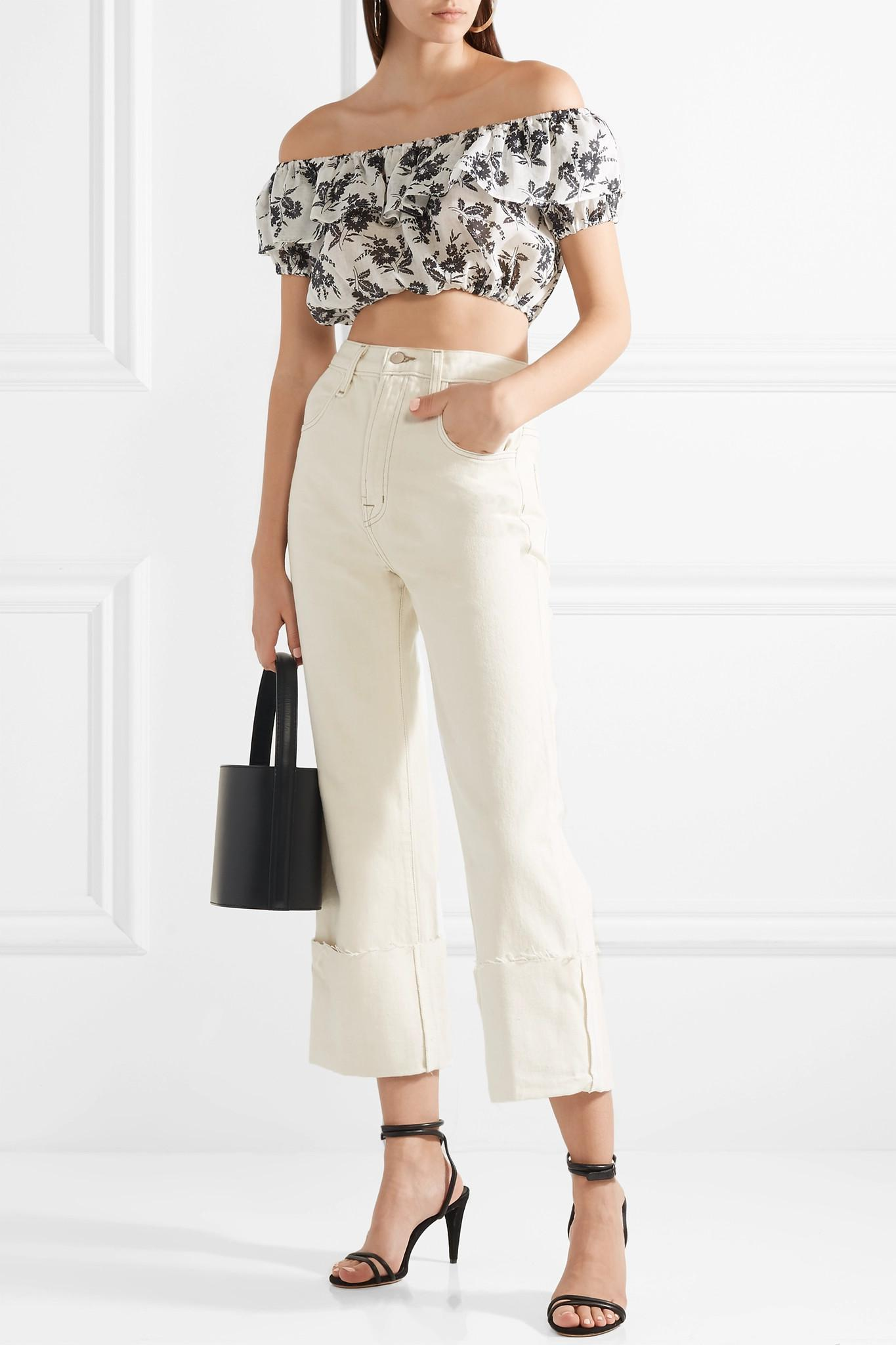 2c9621977f5 miu-miu-white-Cropped-Off-the-shoulder-Floral-print-Ramie-Top.jpeg