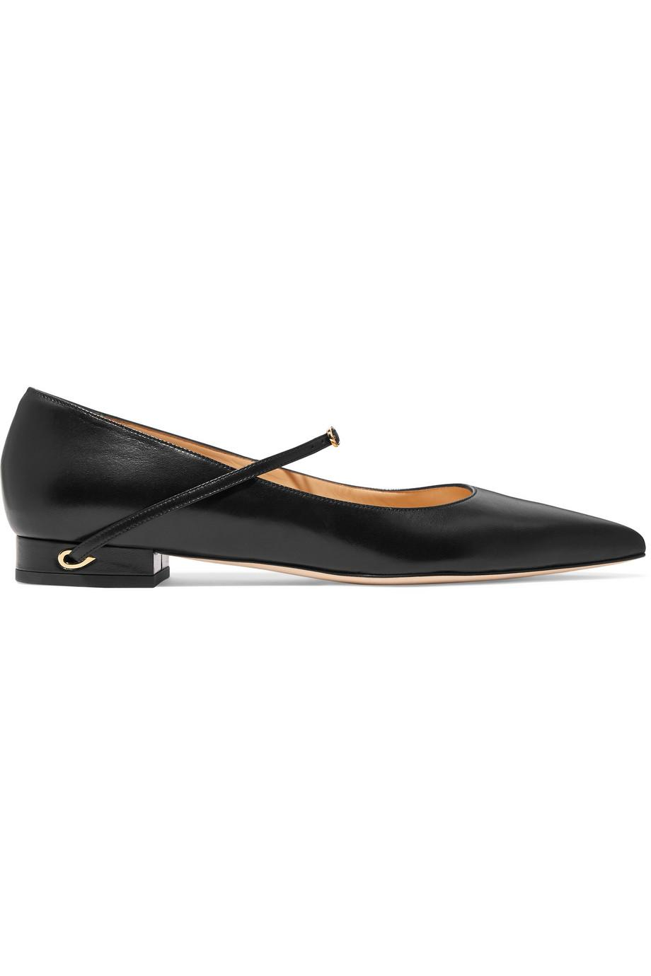 Lorenzo Leather Point-toe Flats - Black Jennifer Chamandi cdFcFML