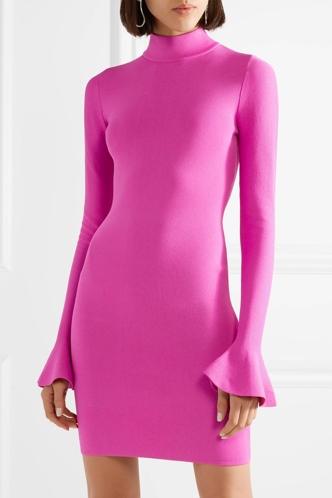 Stretch-knit Mini Dress - Bright pink Michael Kors ejViXs