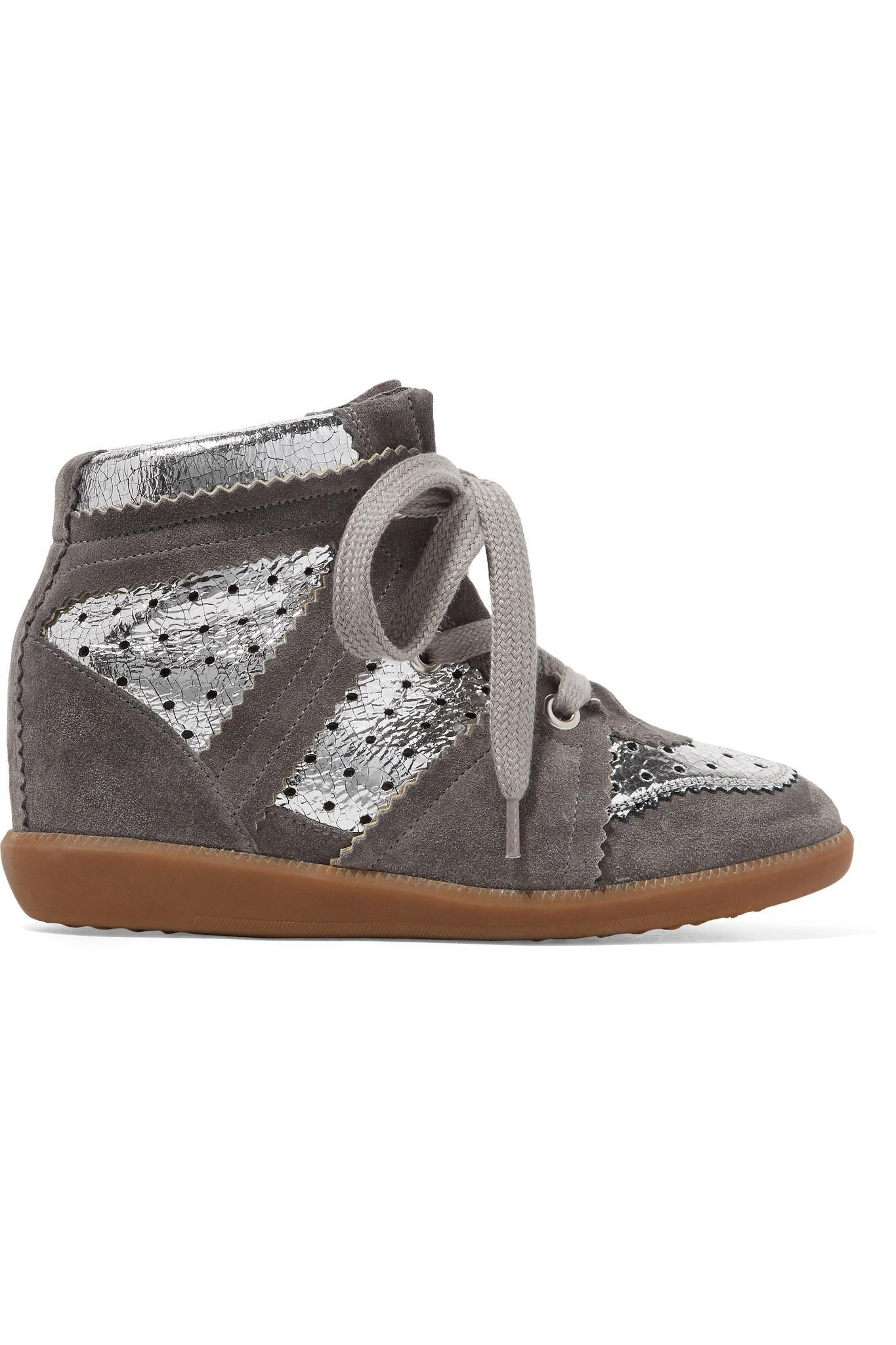 best loved ae672 3c2cf isabel-marant-silver-Bobby-Perforated-Metallic-Leather-And-Suede-Wedge-Sneakers.jpeg