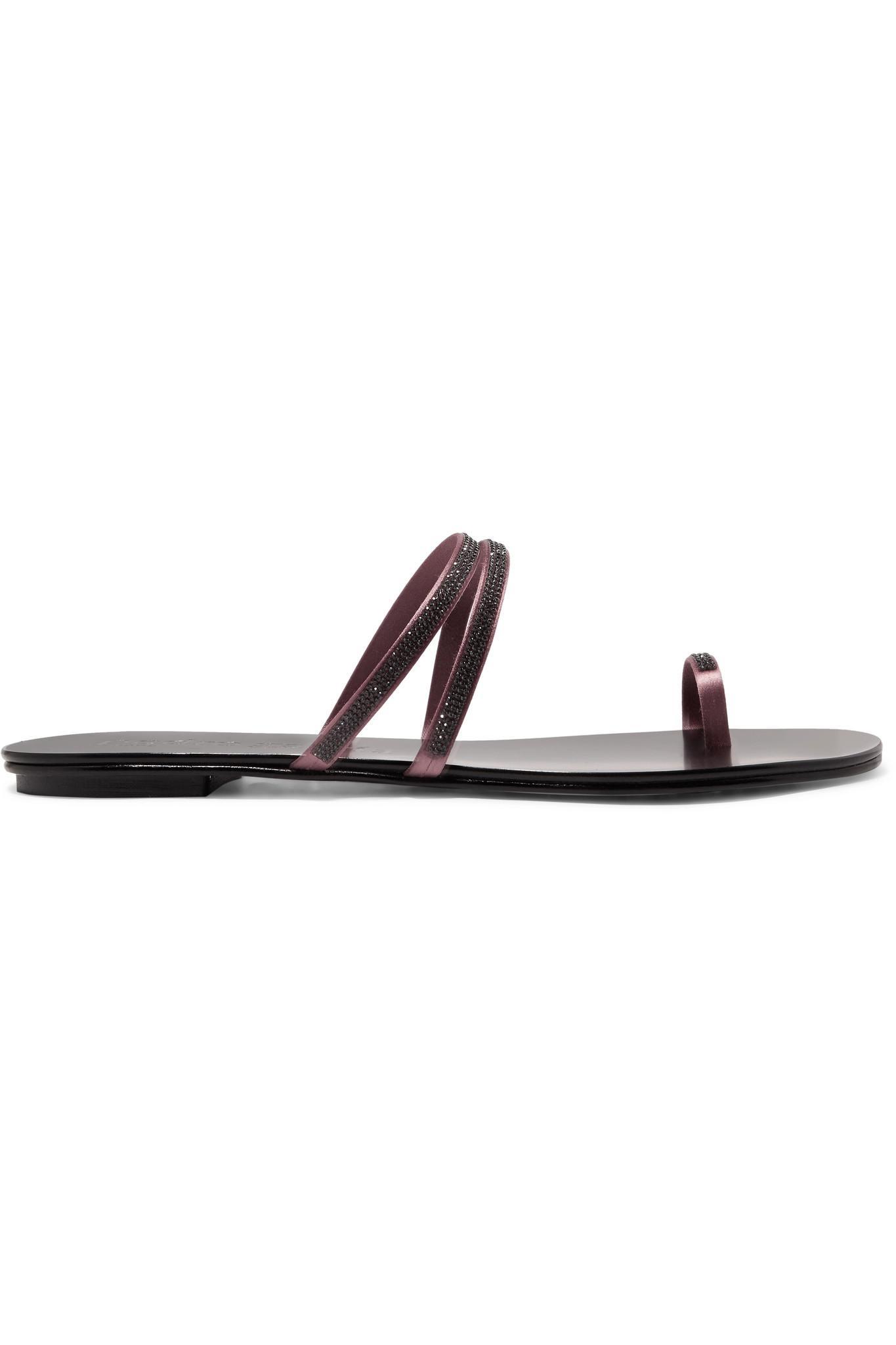 26596473cde49 Pedro Garcia. Women s Black Sula Swarovski Crystal-embellished Satin And Leather  Sandals