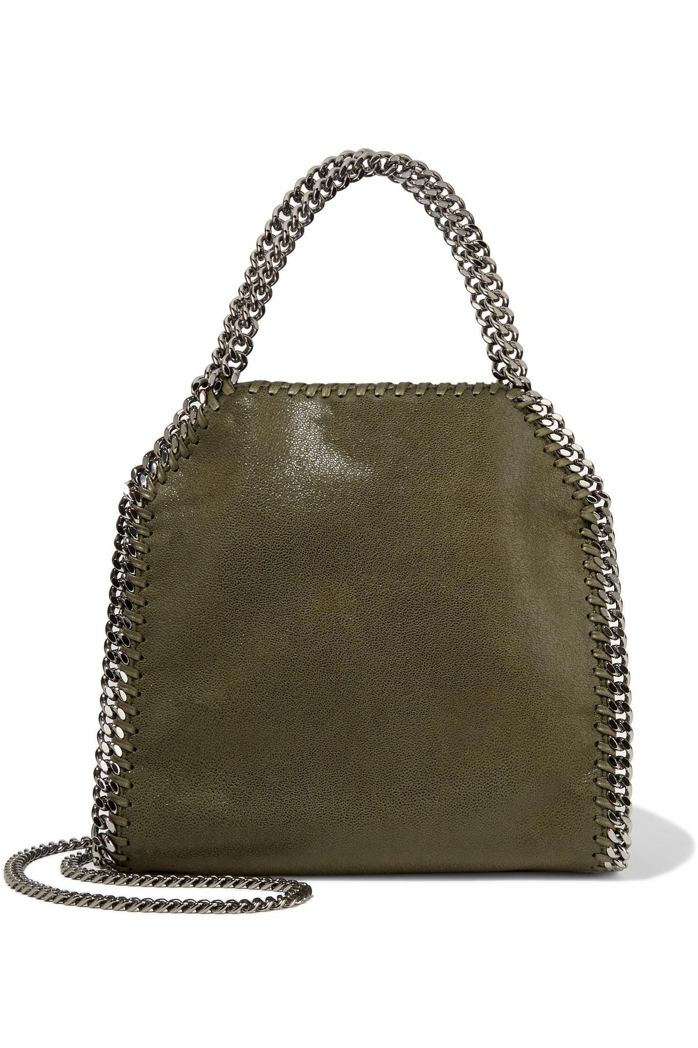 Lyst - Stella McCartney Falabella Mini Faux Brushed-leather Shoulder ... dd348c875e407