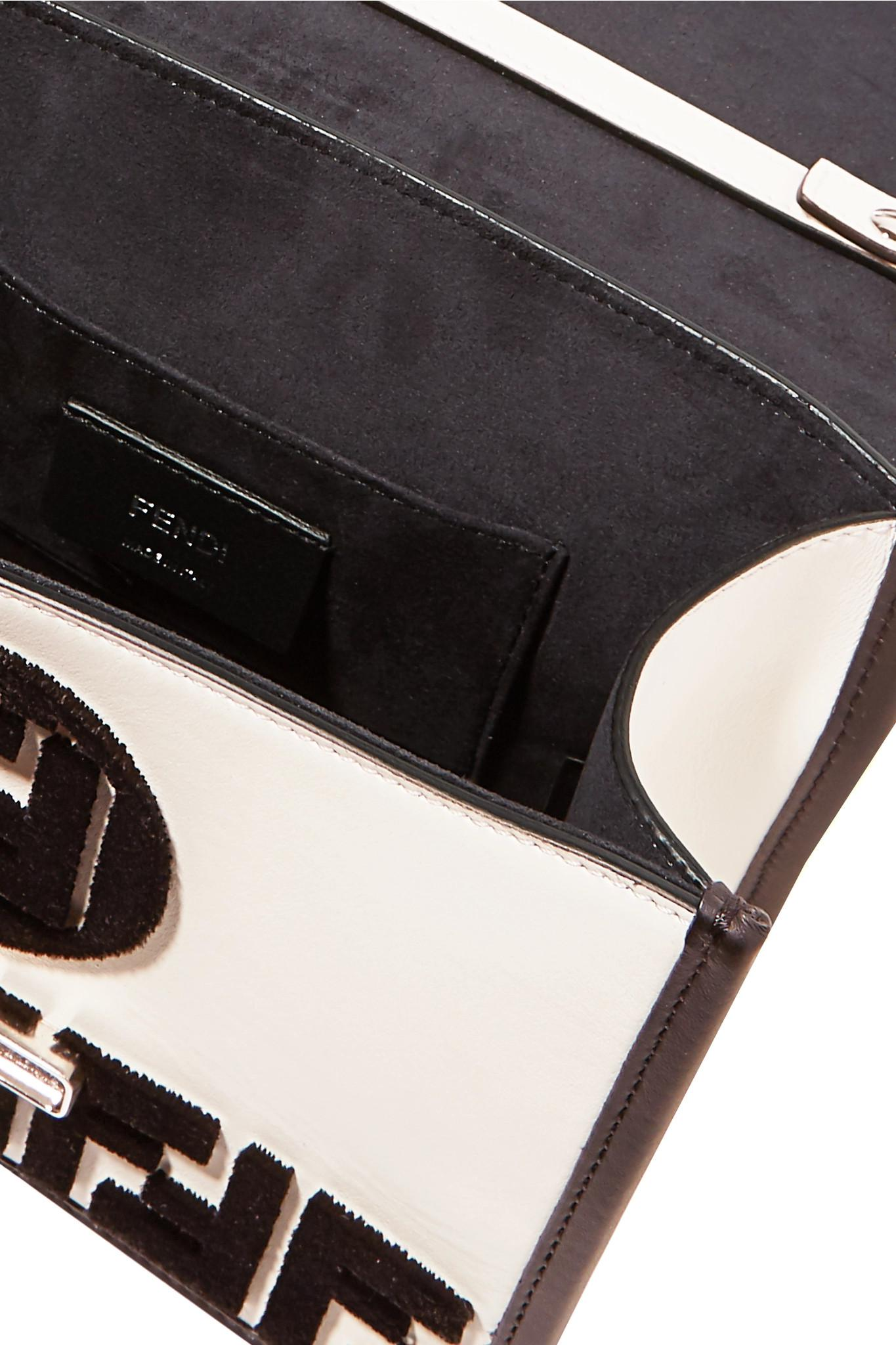 Fendi - White Kan I Small Flocked Leather Shoulder Bag - Lyst. View  fullscreen 973c1ab4a50ec