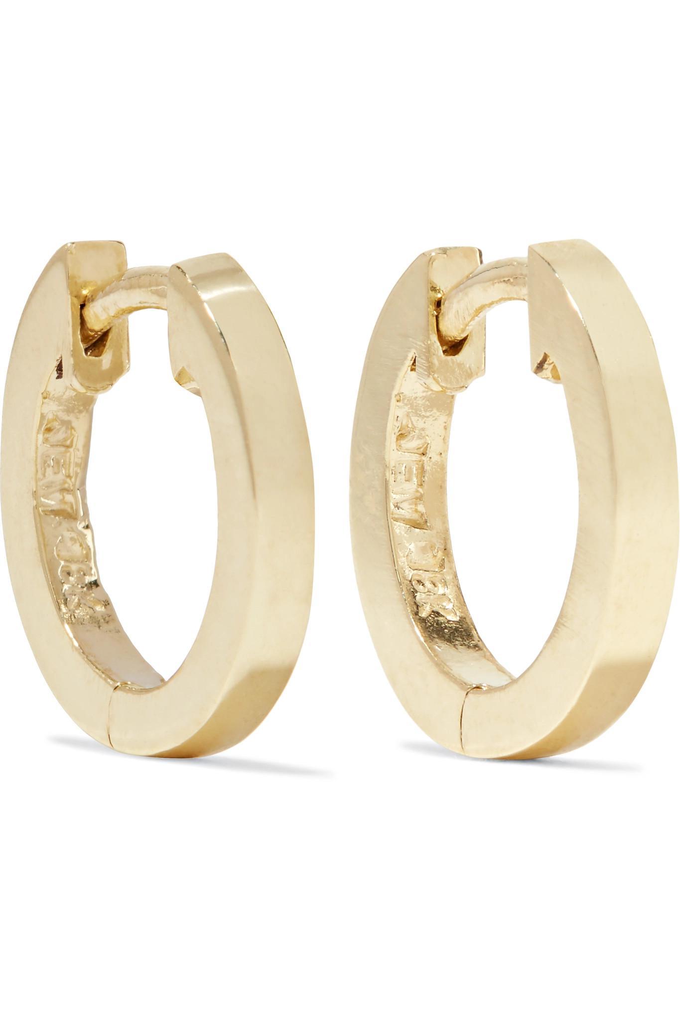 Jennifer Meyer Huggy Small 18-karat Gold Hoop Earrings HrXsz4COq