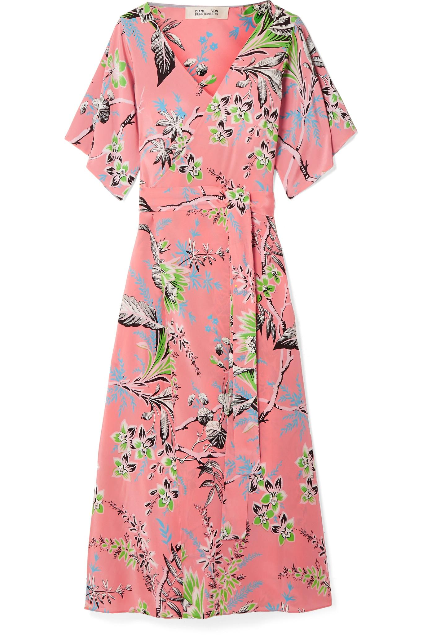 Floral-print Silk Crepe De Chine Wrap Dress - Pink Diane Von F</ototo></div>                                   <span></span>                               </div>             <div>                                     <div>                                             <aside>                                                     <div>                                                             <ul>                                                                     <li>                                     <a href=