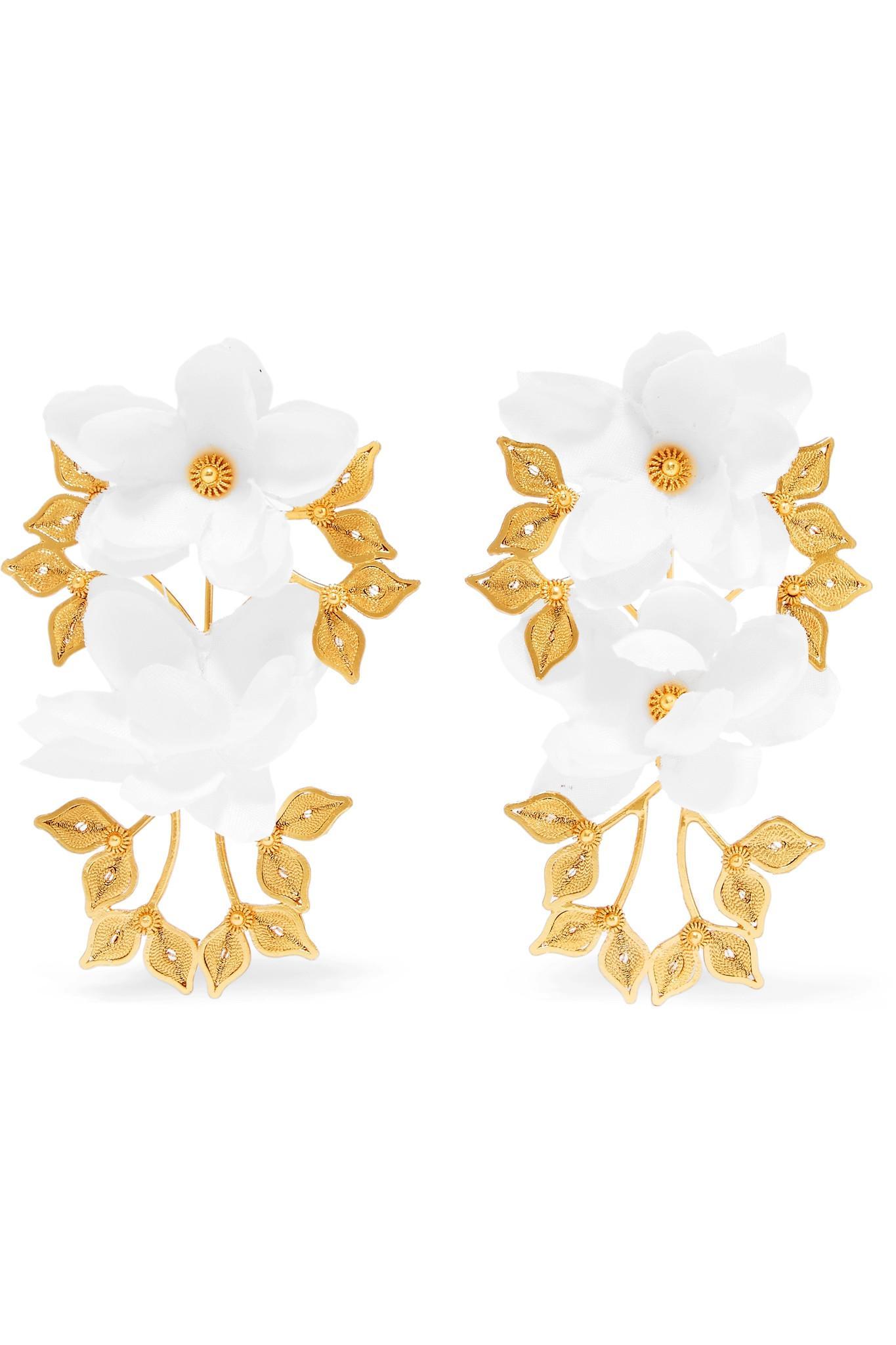 Mallarino Greta Gold Vermeil Silk Earrings DACLnCW