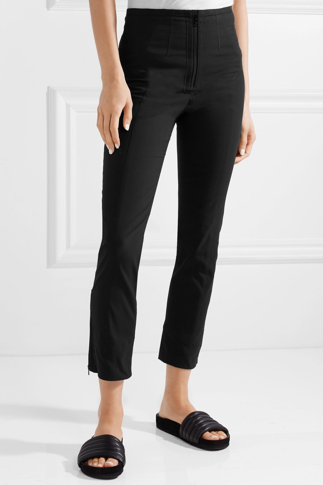 Jumpery Stretch Cotton-blend Skinny Pants - Black Isabel Marant Lowest Price Sale Online For Sale Cheap Price From China MCJJRme