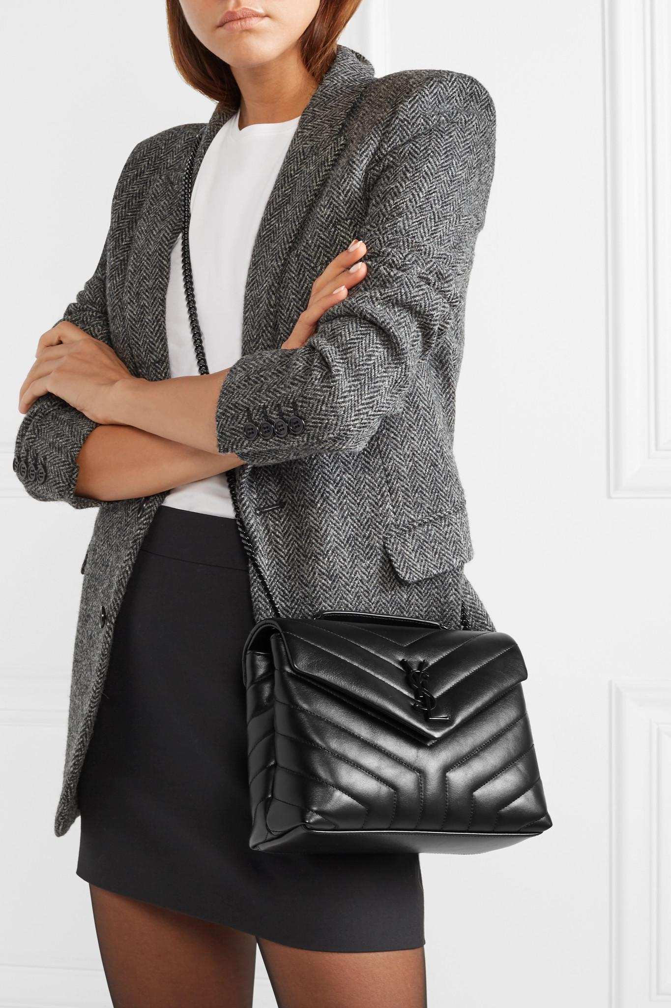 967a7a04ad9a Saint Laurent - Black Loulou Small Quilted Leather Shoulder Bag - Lyst.  View fullscreen