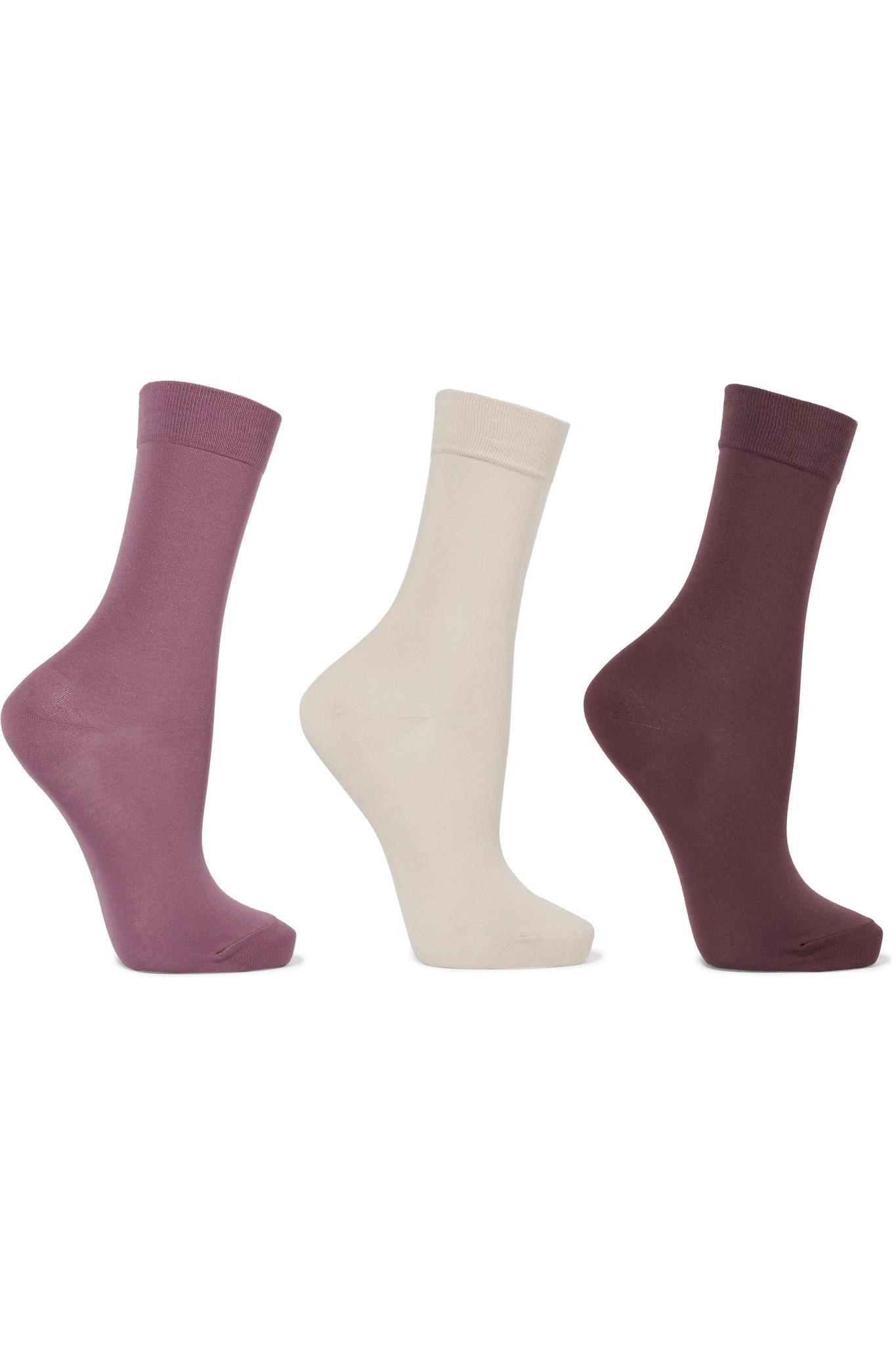 Set Of Three Cotton-blend Socks - Black Falke Cheap Price Cost Big Sale Cheap Sale Buy Perfect 712THrmF