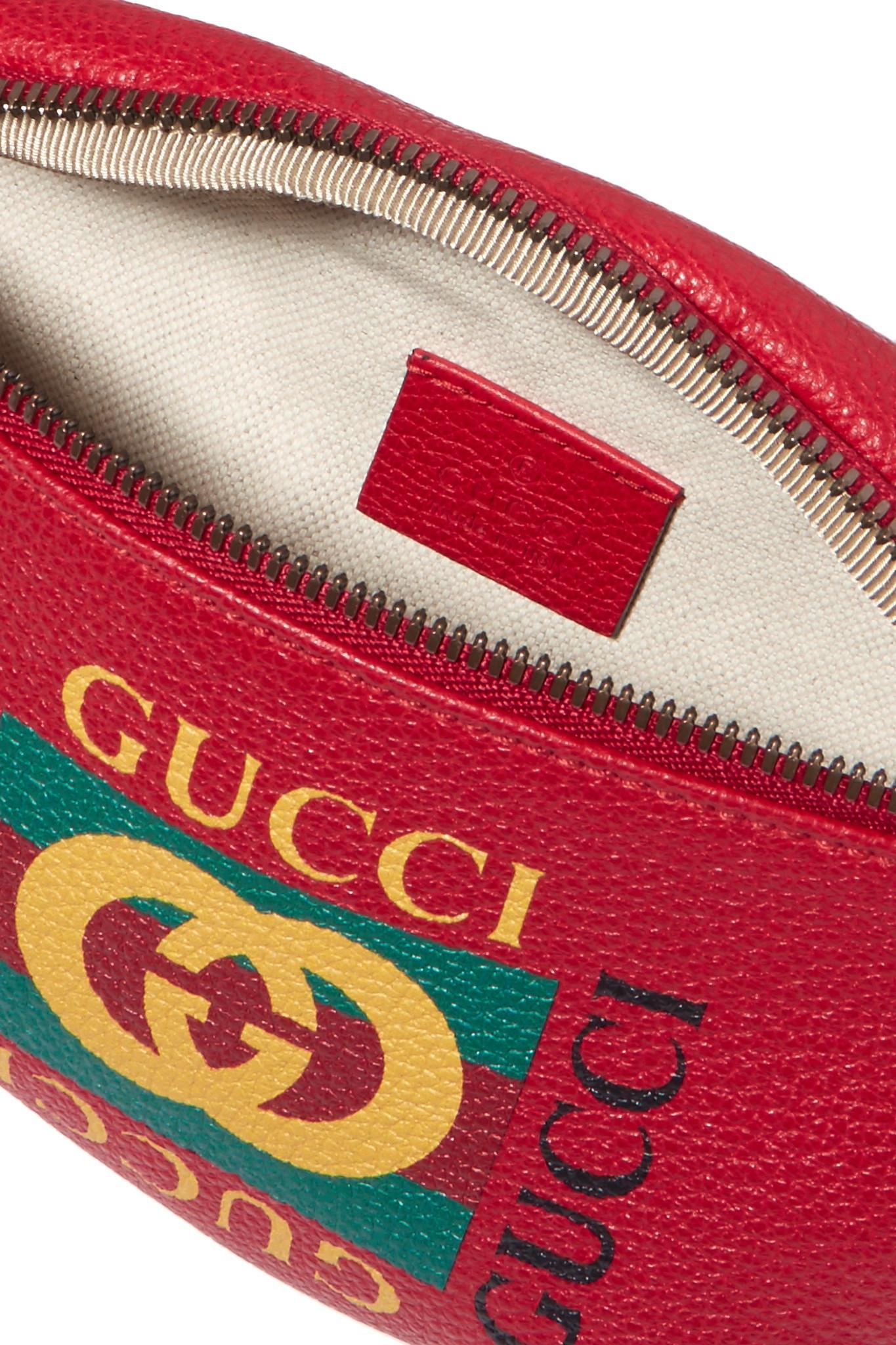 21981803a6b Gucci - Printed Textured-leather Belt Bag - Lyst. View fullscreen