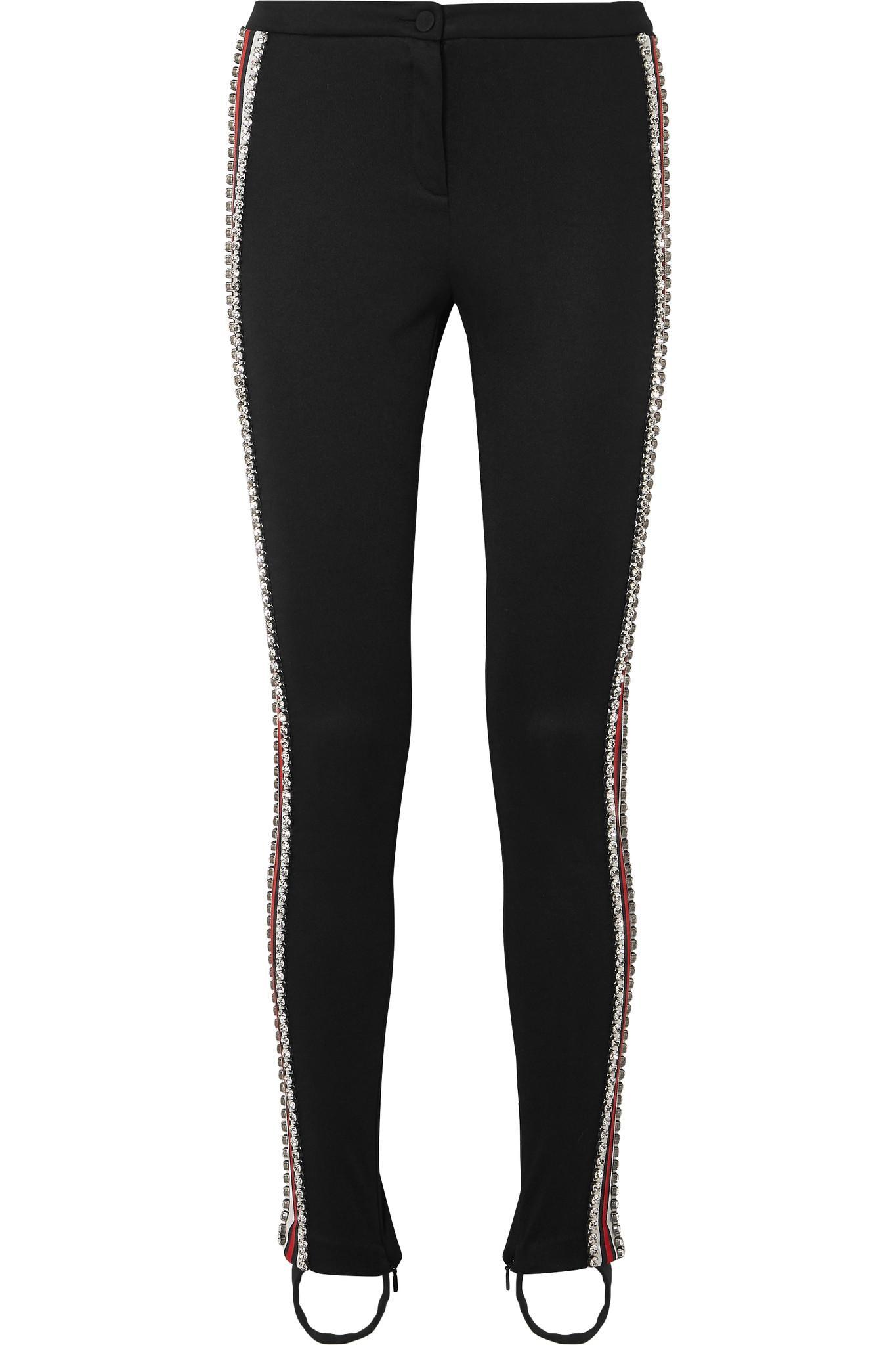 c67b4077f39 Gucci Striped Tech-jersey Leggings in Black - Save 63% - Lyst