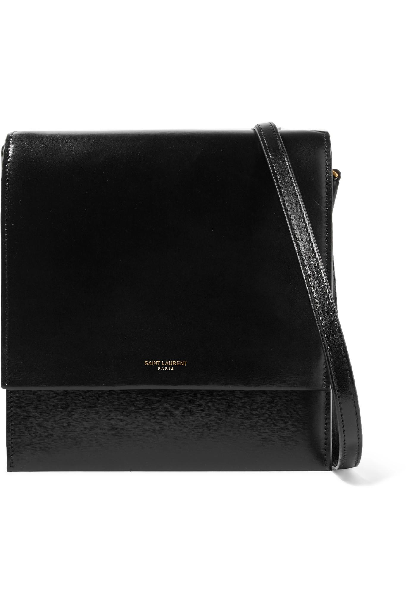 9bf5c58e89 Saint Laurent - Black Sao Leather Shoulder Bag - Lyst. View fullscreen