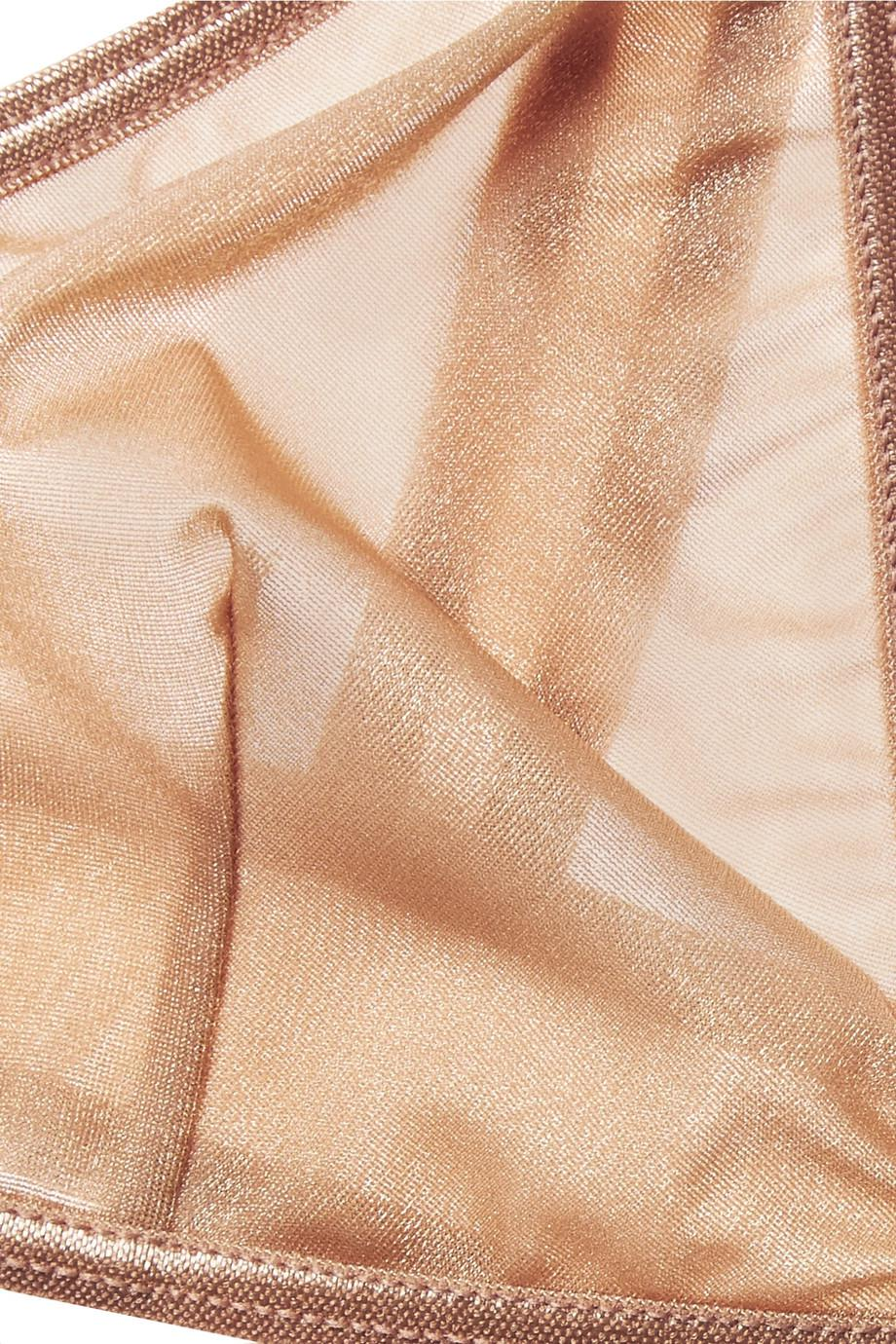 Minnesota Metallic Stretch-mesh Soft-cup Triangle Bra - Sand BASERANGE Low Price Cheap Online Buy Cheap Explore Free Shipping Explore Visit New With Mastercard Cheap Price xYuedY90