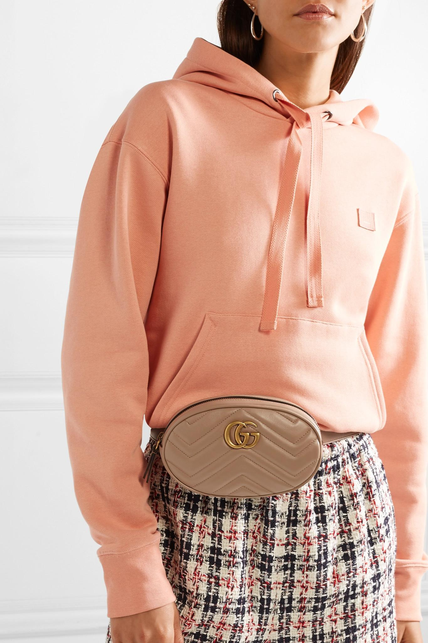 d2ec1685f75 Gucci - Multicolor Gg Marmont Quilted Leather Belt Bag - Lyst. View  fullscreen