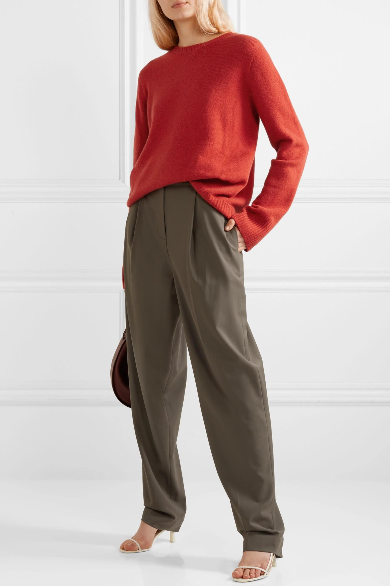 e9e7b36a81 The Row - Red Sibel Oversized Wool And Cashmere-blend Sweater - Lyst. View  fullscreen