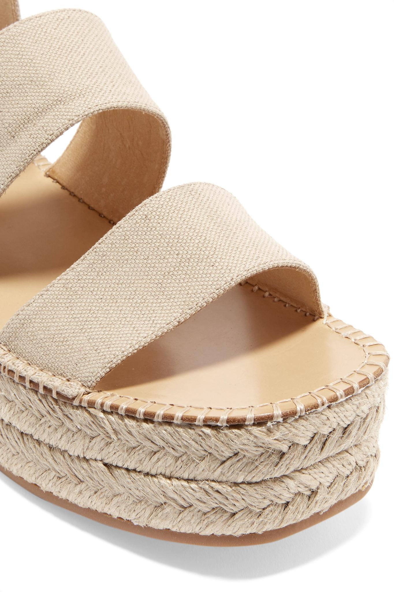 abd652386d5 Lyst - Rag   Bone Woman Tara Canvas Platform Espadrille Sandals ...