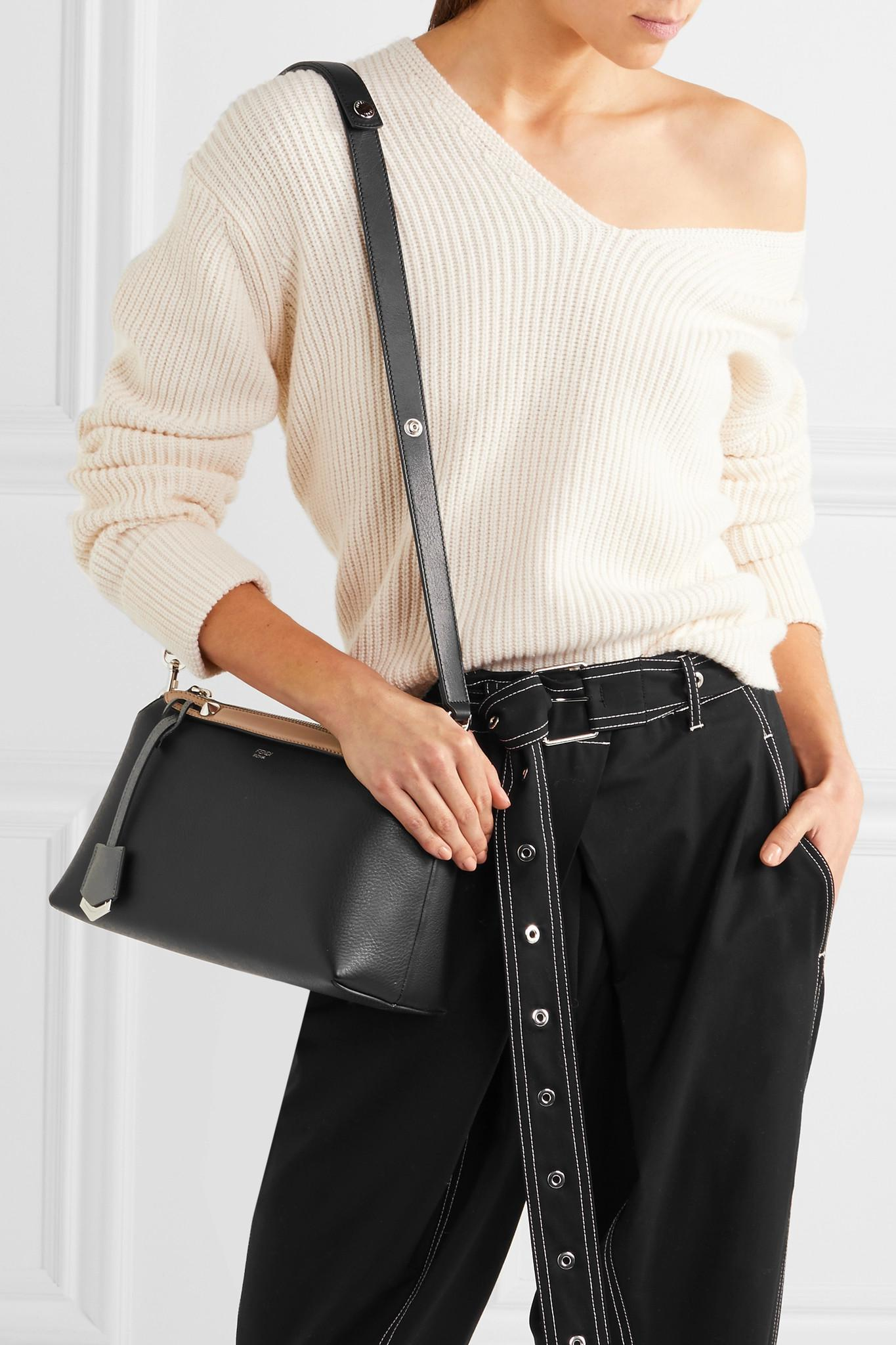 27997158fe Fendi - Black By The Way Small Color-block Textured-leather Shoulder Bag -.  View fullscreen