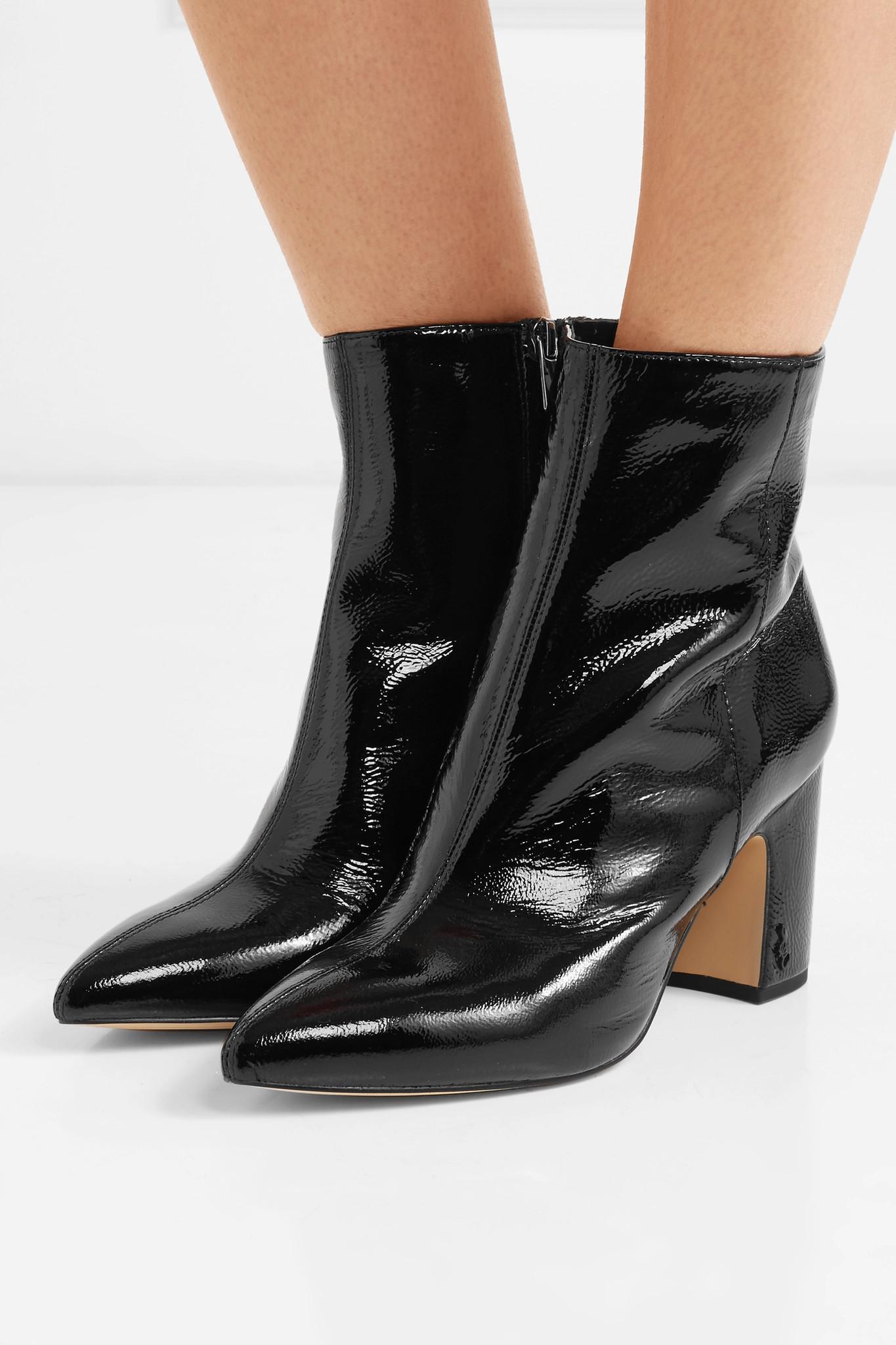4d1699310c68 Sam Edelman - Black Hilty Patent-leather Ankle Boots - Lyst. View fullscreen
