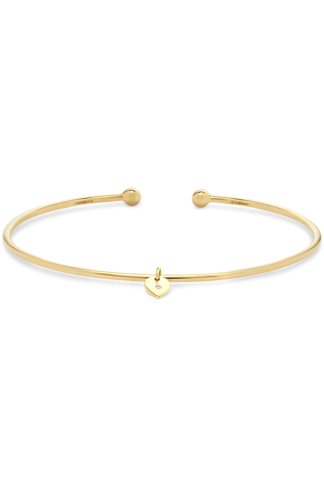 Jemma Wynne 18-karat Gold Diamond Cuff