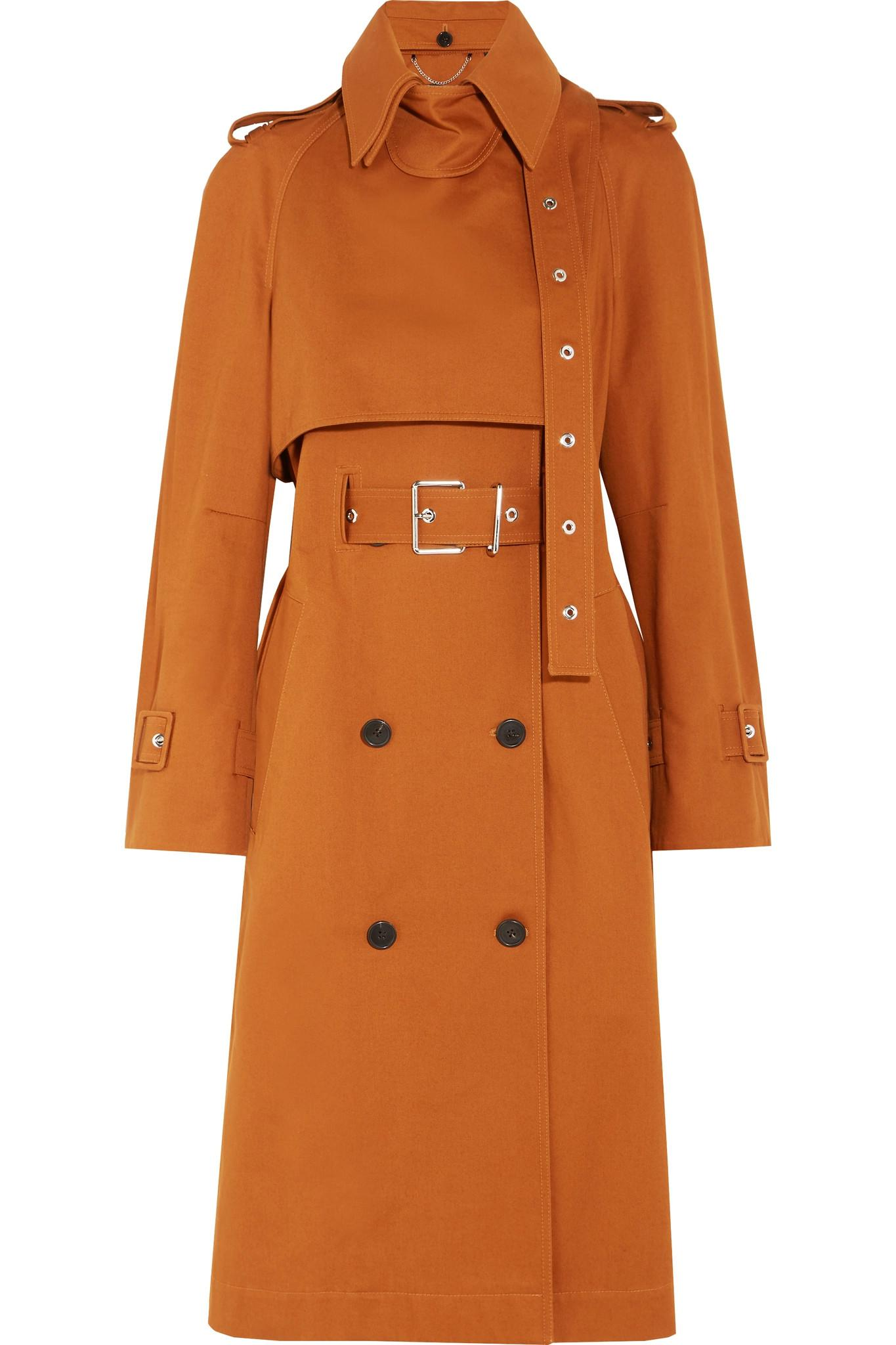 c57c6dfb26f5 Lyst - Proenza Schouler Double-breasted Cotton-twill Trench Coat in ...