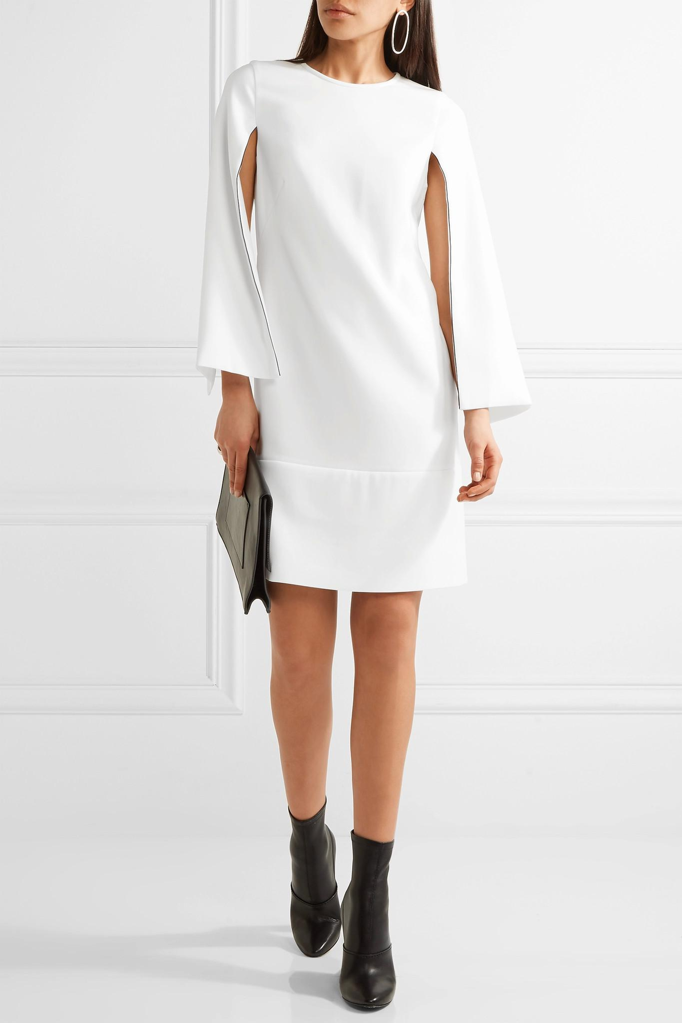 f258ce51fe DKNY Cape-effect Stretch-crepe Dress in White - Lyst