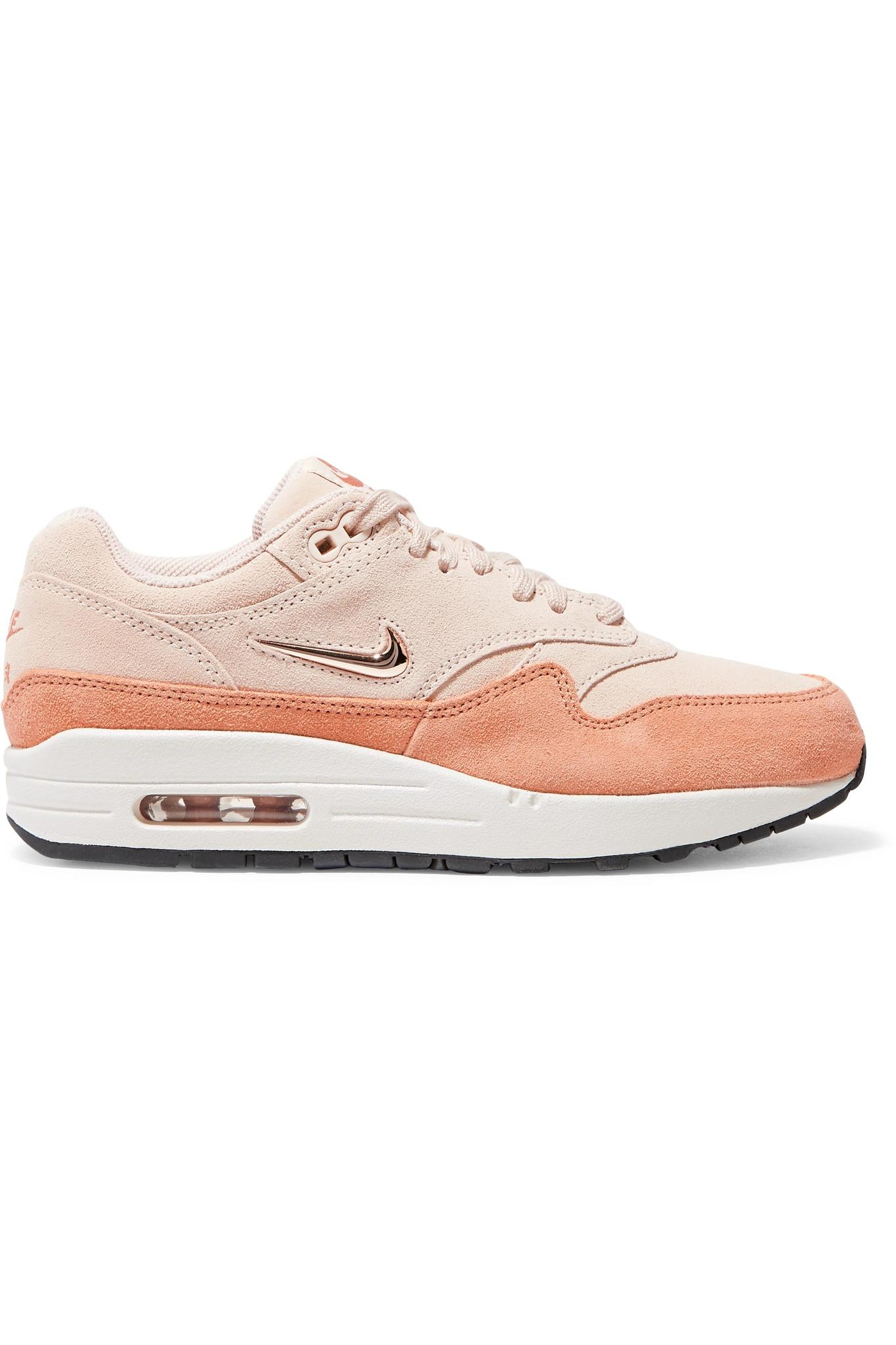 f96a4310c4b Lyst - Nike Air Max 1 Two-tone Suede Sneakers in Natural