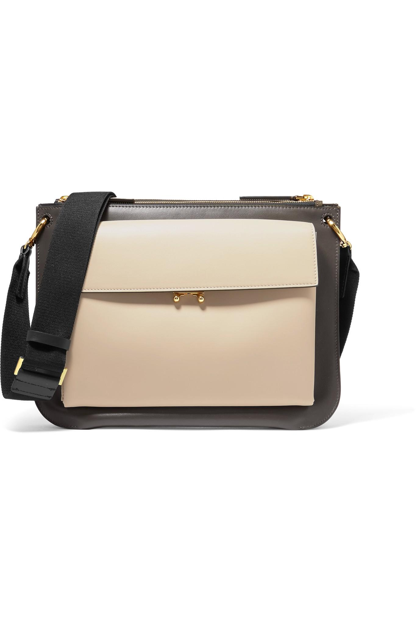 Bandoleer Black Leather Shoulder Bag Marni 4P6ArWbu