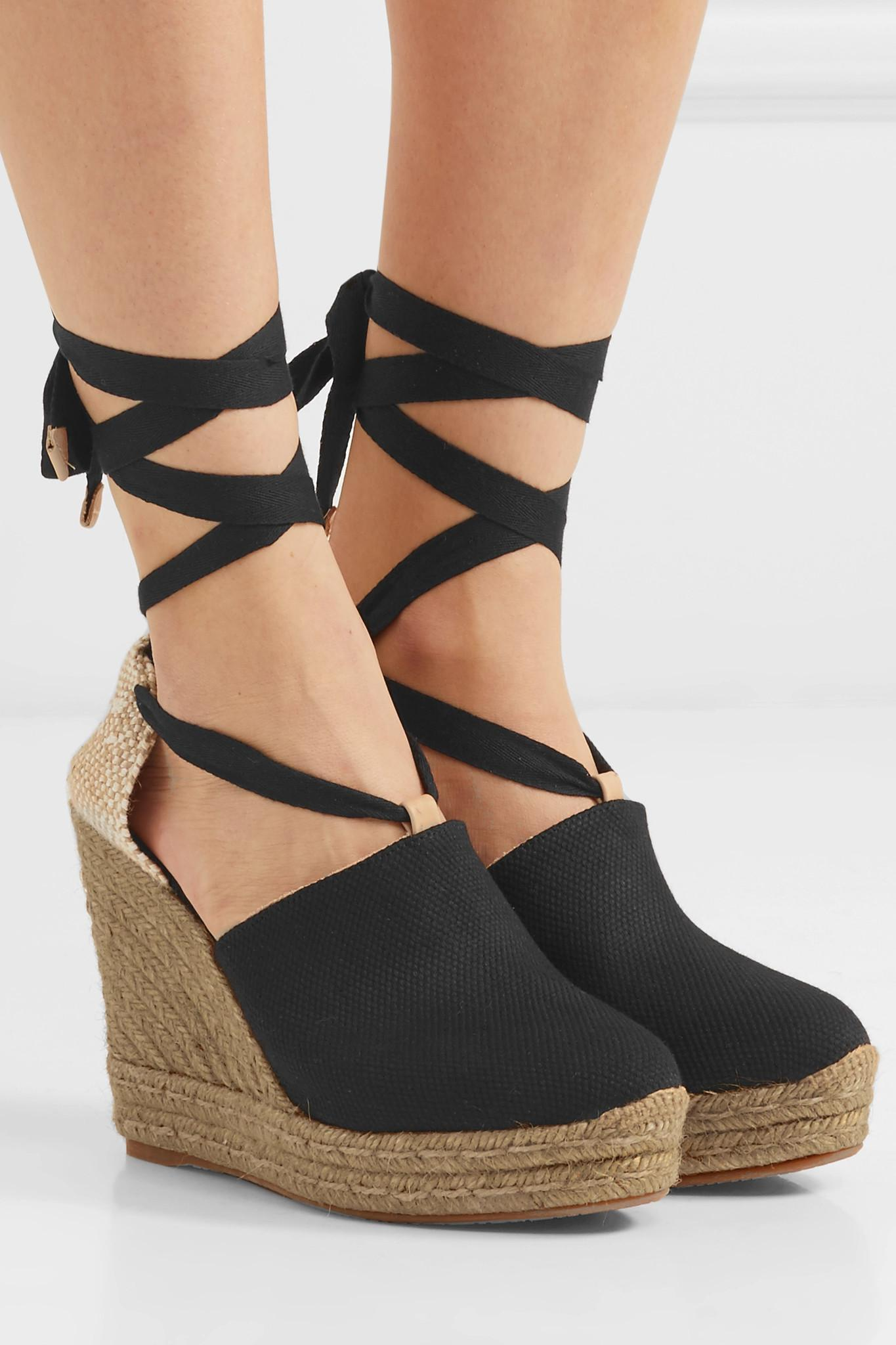 0616e285999 Castaner - Black Nerea 120 Canvas Wedge Espadrilles - Lyst. View fullscreen