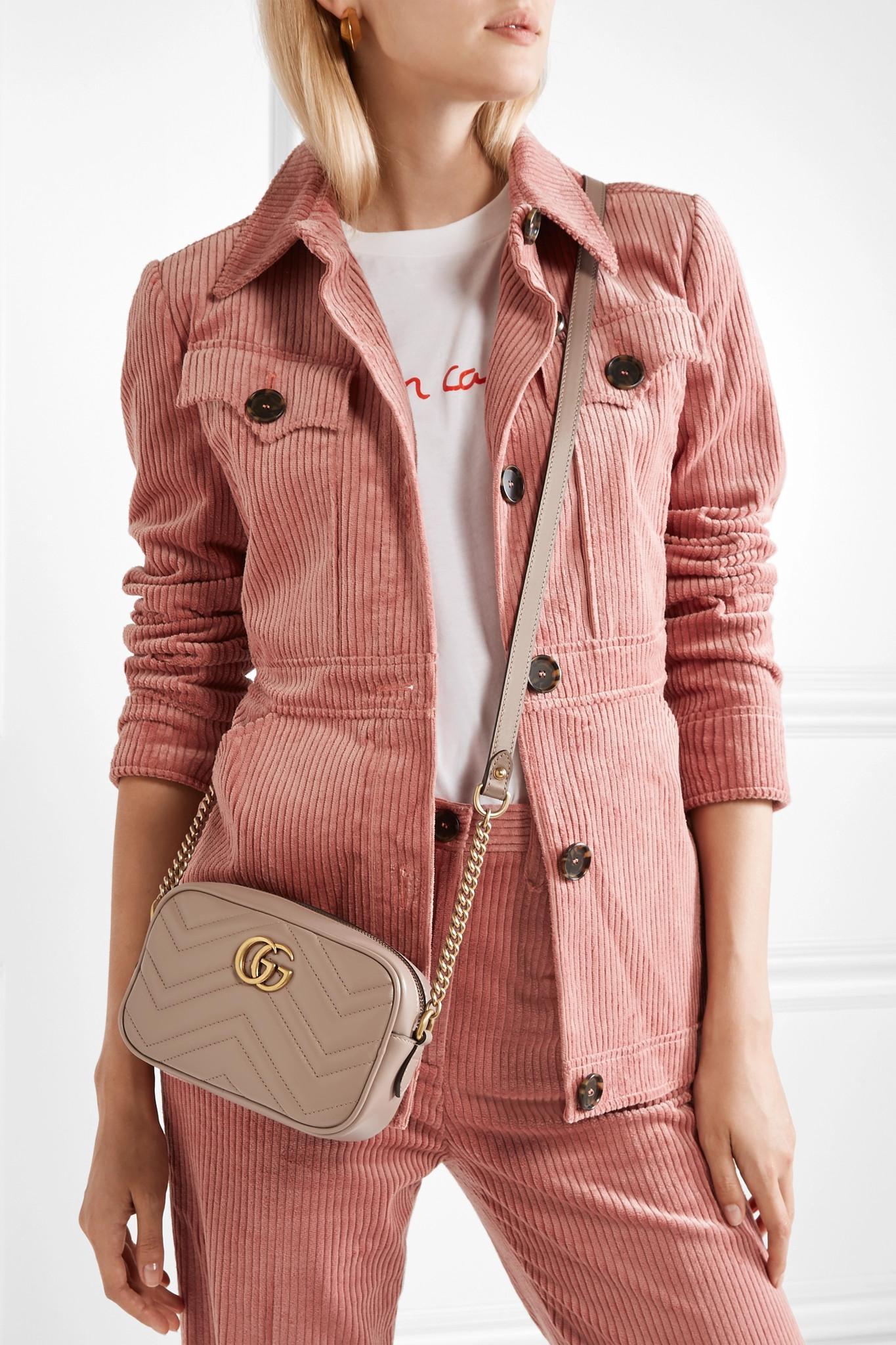 8c210af277da Gucci Gg Marmont Camera Mini Quilted Leather Shoulder Bag - Lyst