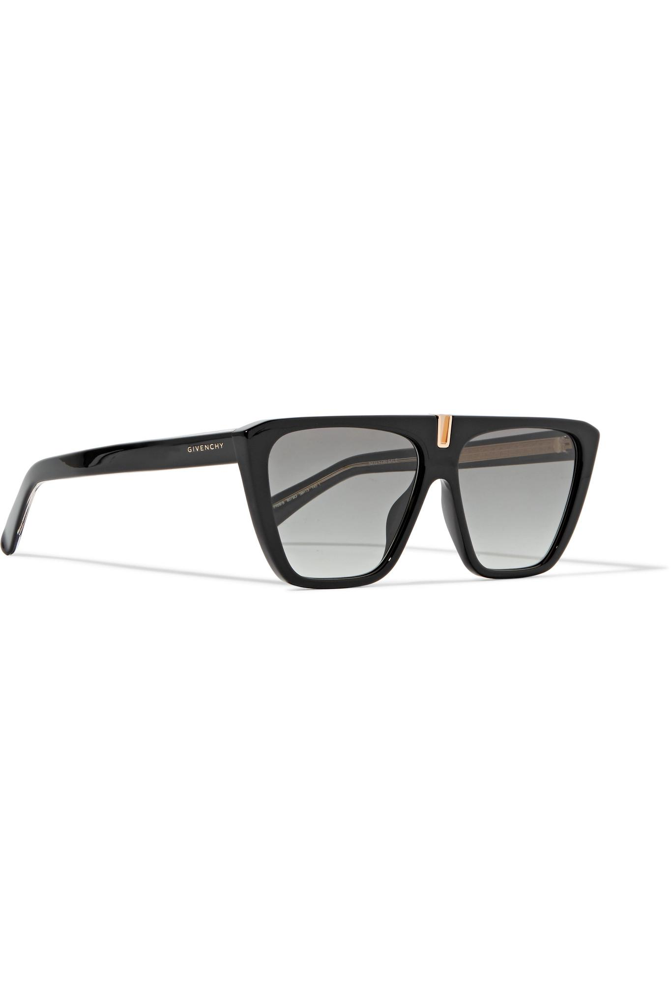 5166a0476cc Lyst - Givenchy D-frame Acetate Sunglasses in Black