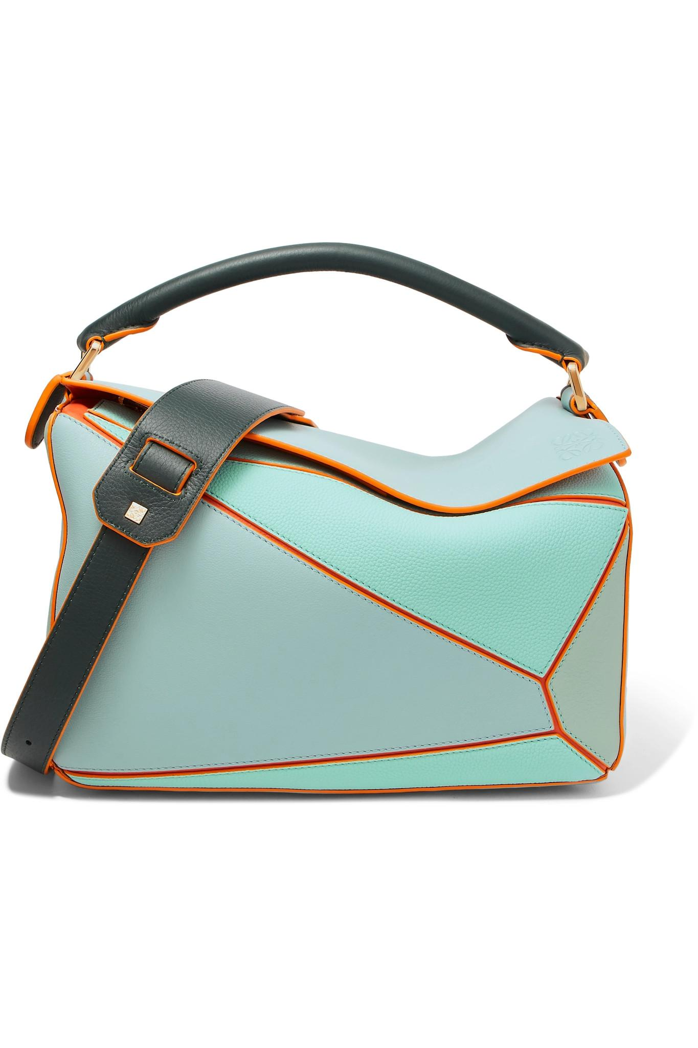 fdcc8769c80c Lyst - Loewe + Paula s Ibiza Puzzle Color-block Textured-leather ...