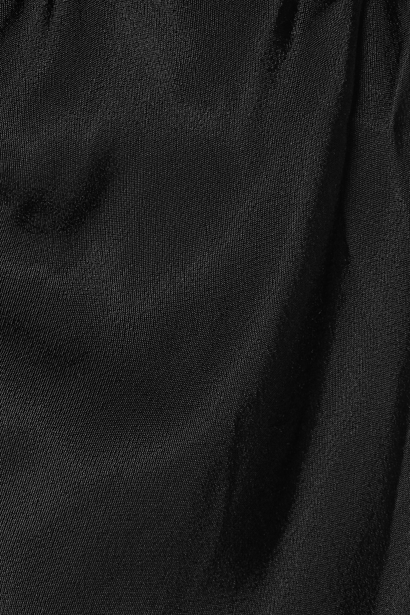 431edf56289 Lyst - By Malene Birger Aliviay Asymmetric Crepe De Chine Maxi Skirt ...