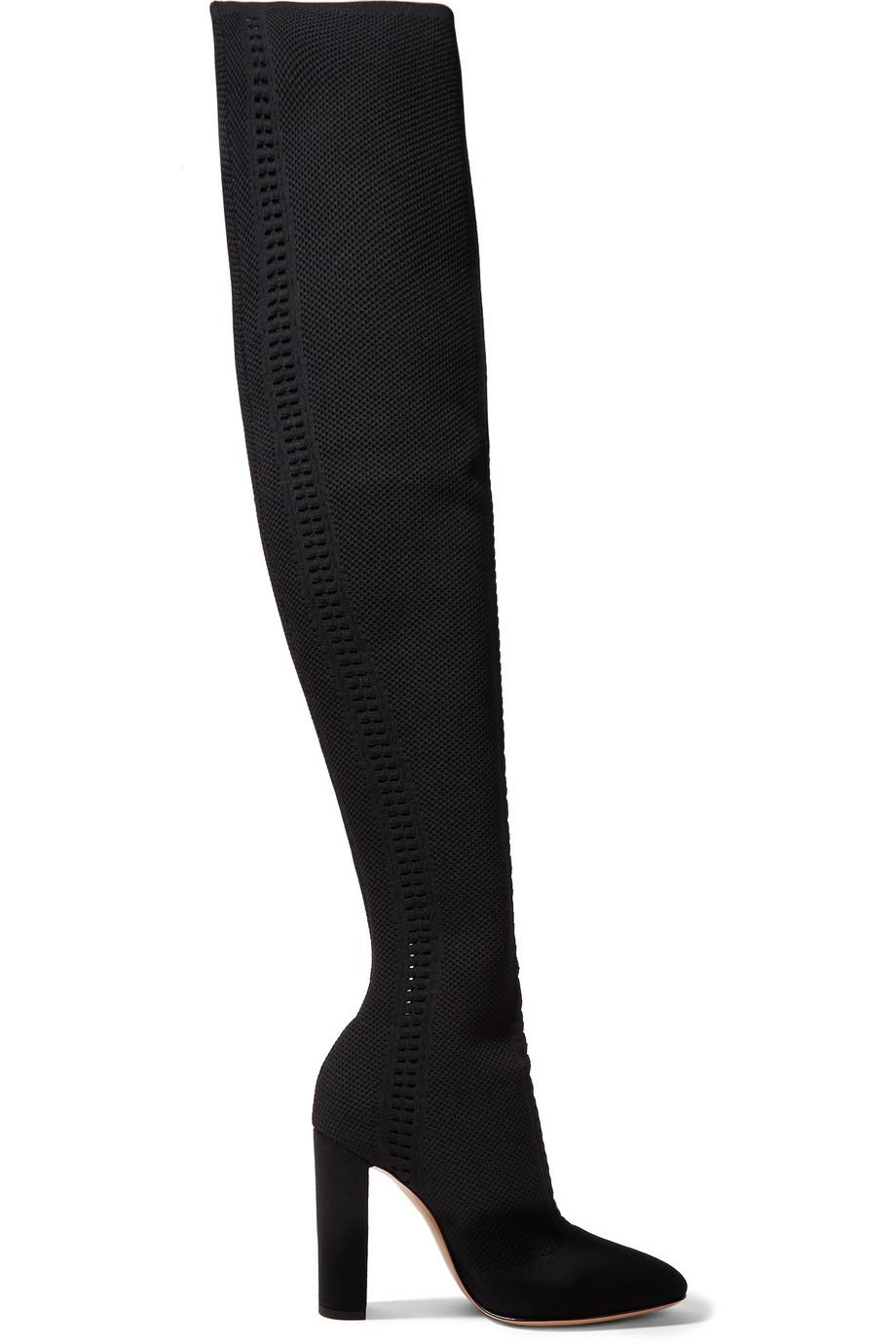Gianvito Rossi Knitted over-the-knee boots outlet 100% authentic outlet deals AtC41R