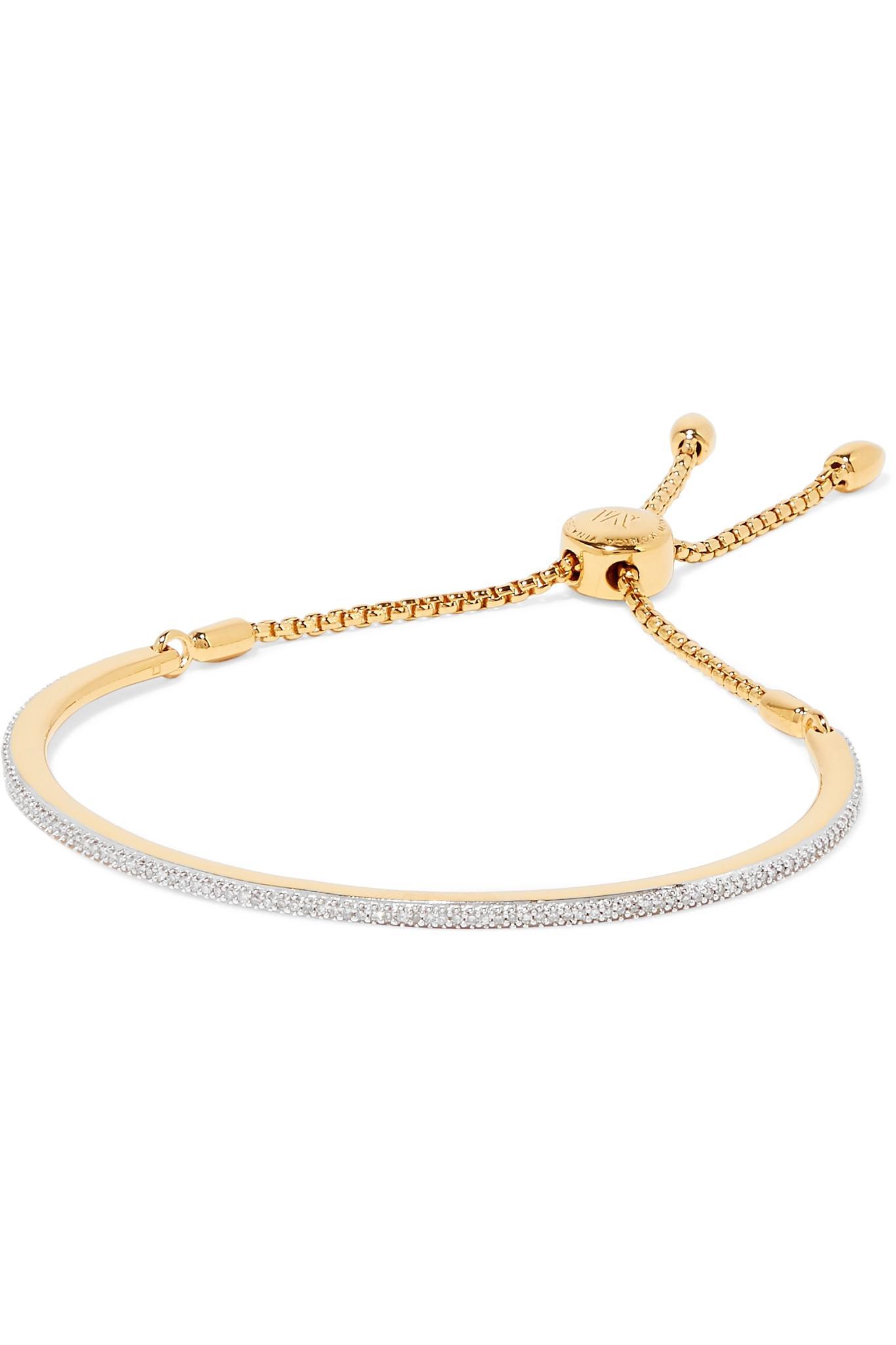 Fiji Full Diamond Bracelet, Gold Vermeil on Silver Monica Vinader
