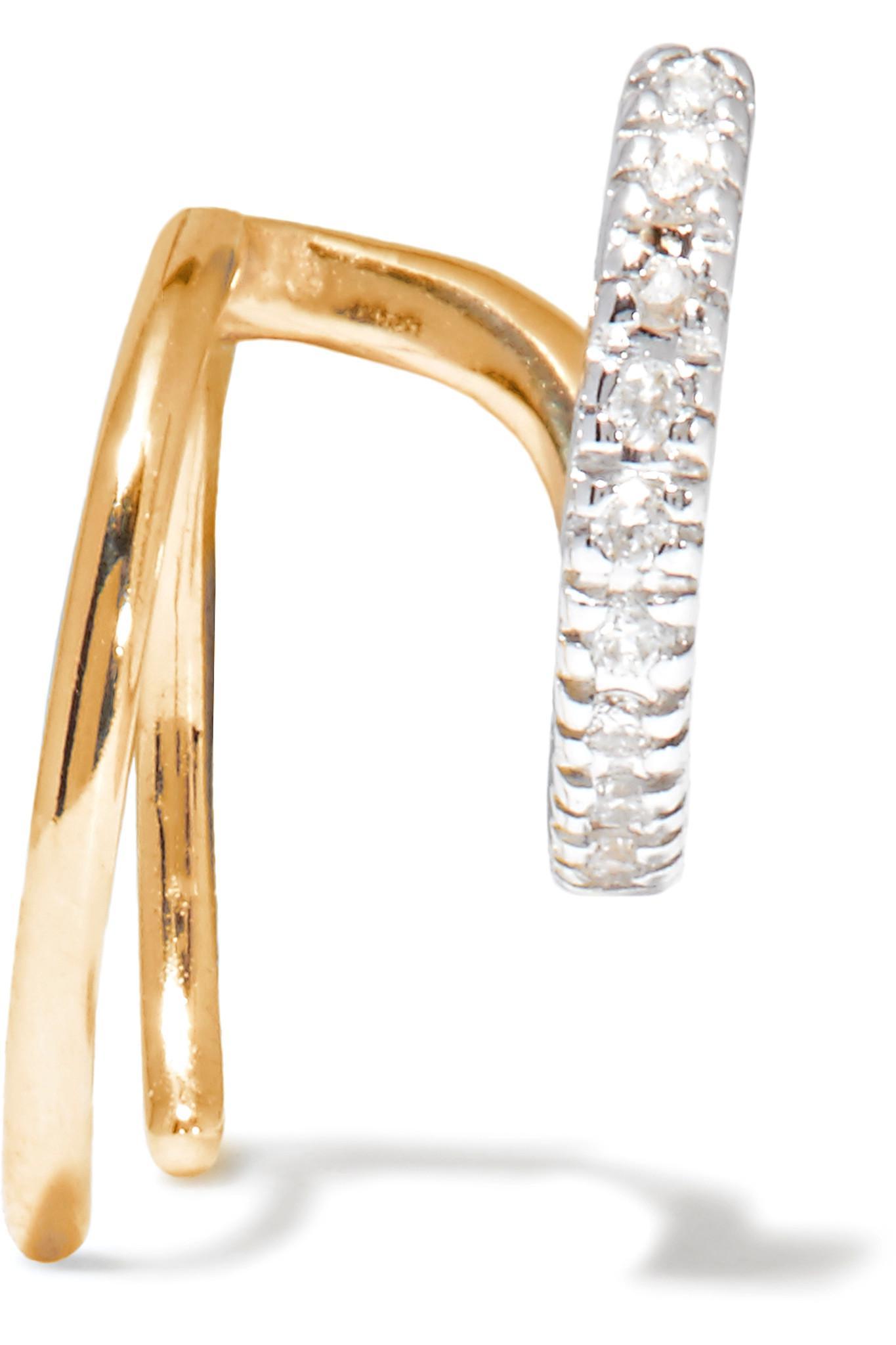 Manon Blanc diamond earring (right) - Metallic Maria Black GwLncR