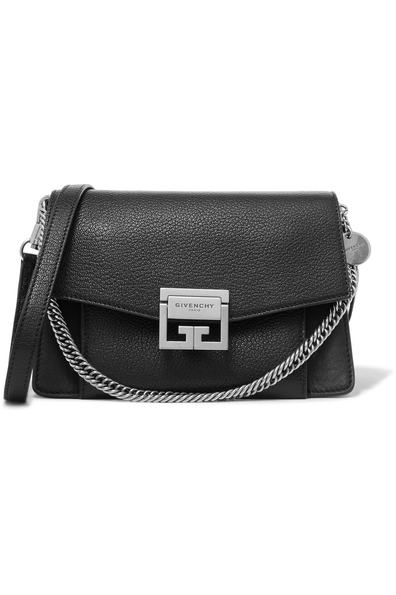 74216c5d2c32 Givenchy - Black Gv3 Small Textured-leather Shoulder Bag - Lyst. View  fullscreen