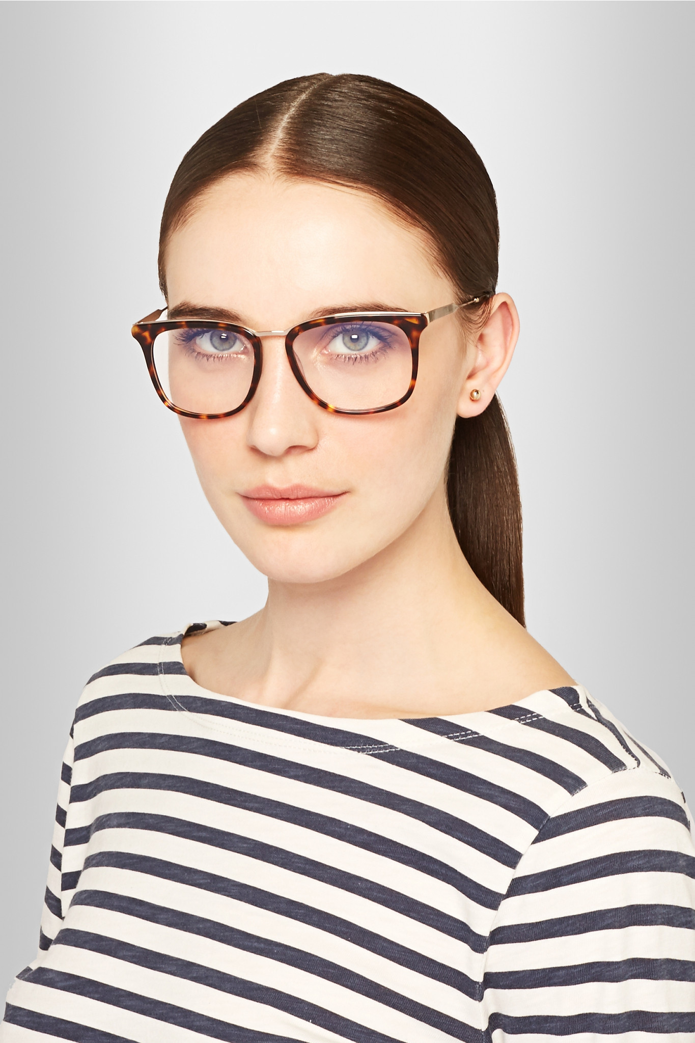 Victoria beckham D-frame Acetate Optical Glasses in Brown ...