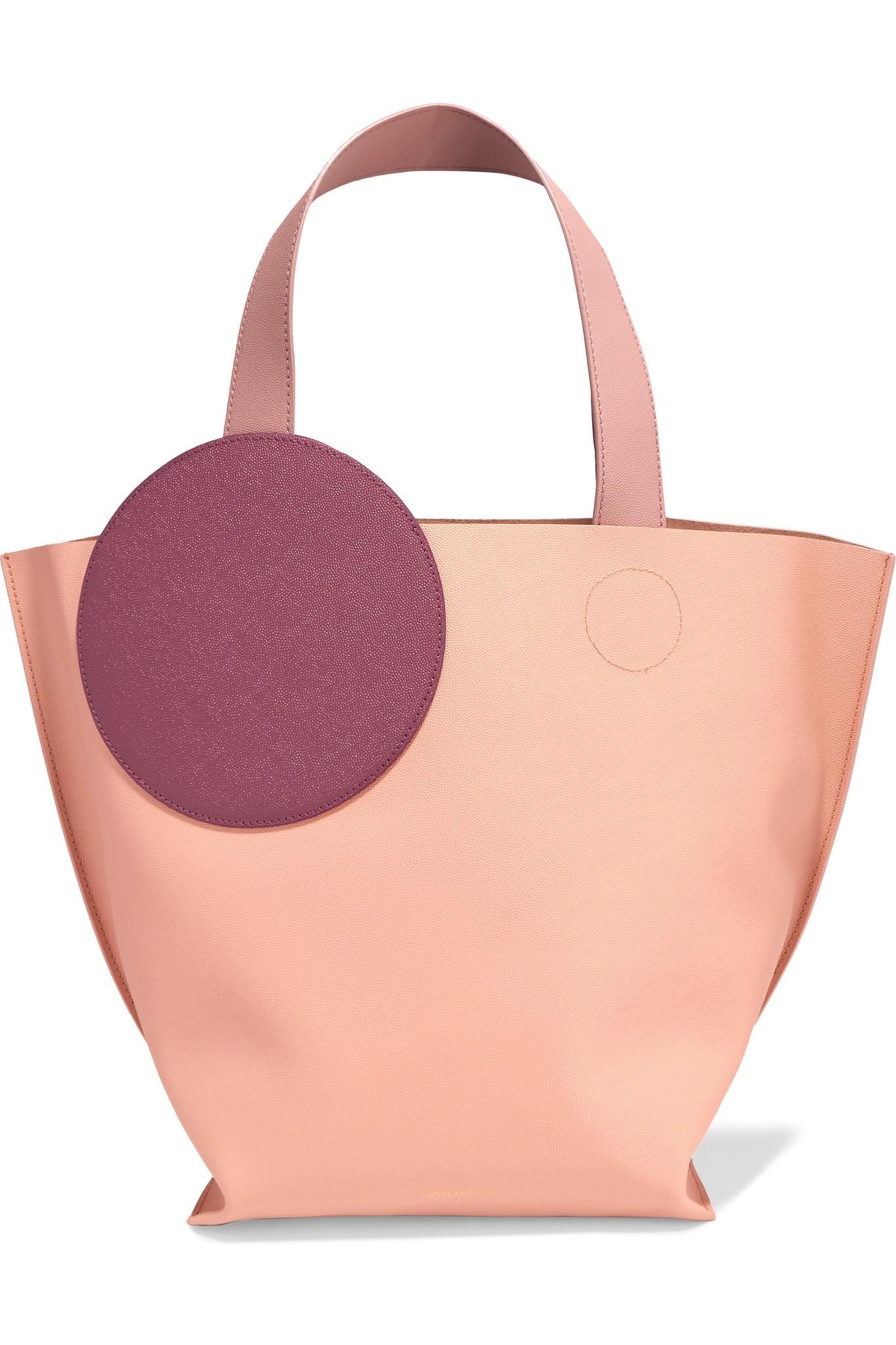 Weekend Mini Color-block Textured-leather Tote - Peach Roksanda Ilincic yyQQnR